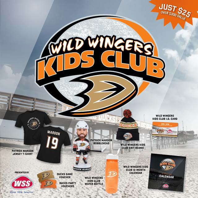The 2015-16 Wild Wingers Kids Club Package.