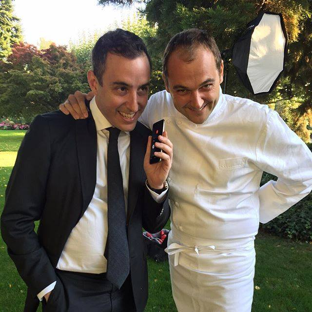 [Will Guidara and Daniel Humm on speakerphone.]