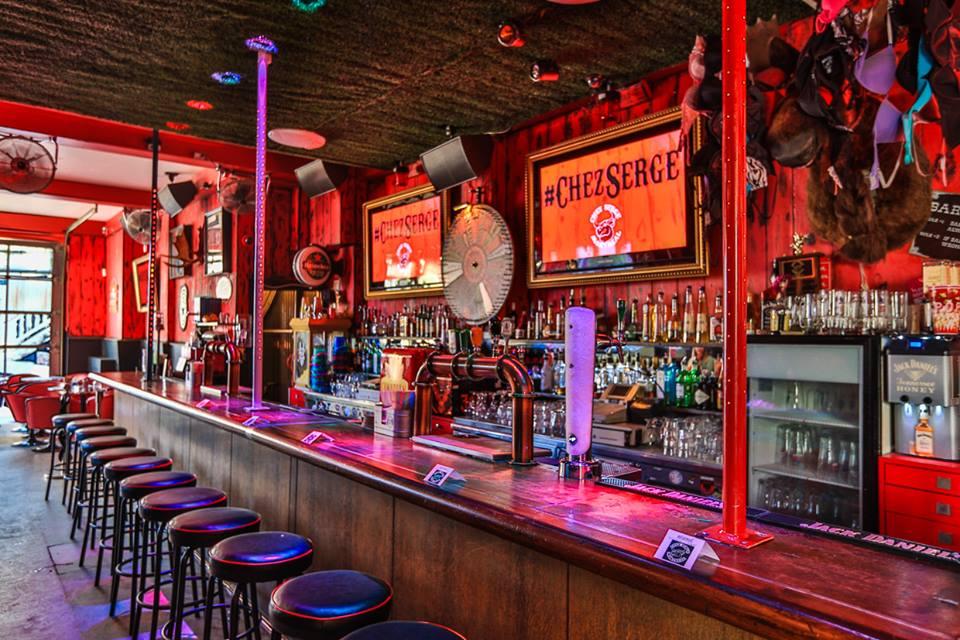 The bar at Chez Serge