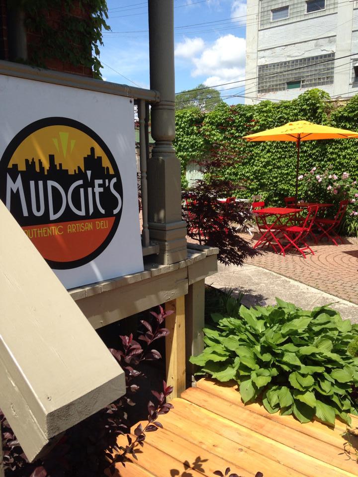 The exterior of Mudgie's Deli
