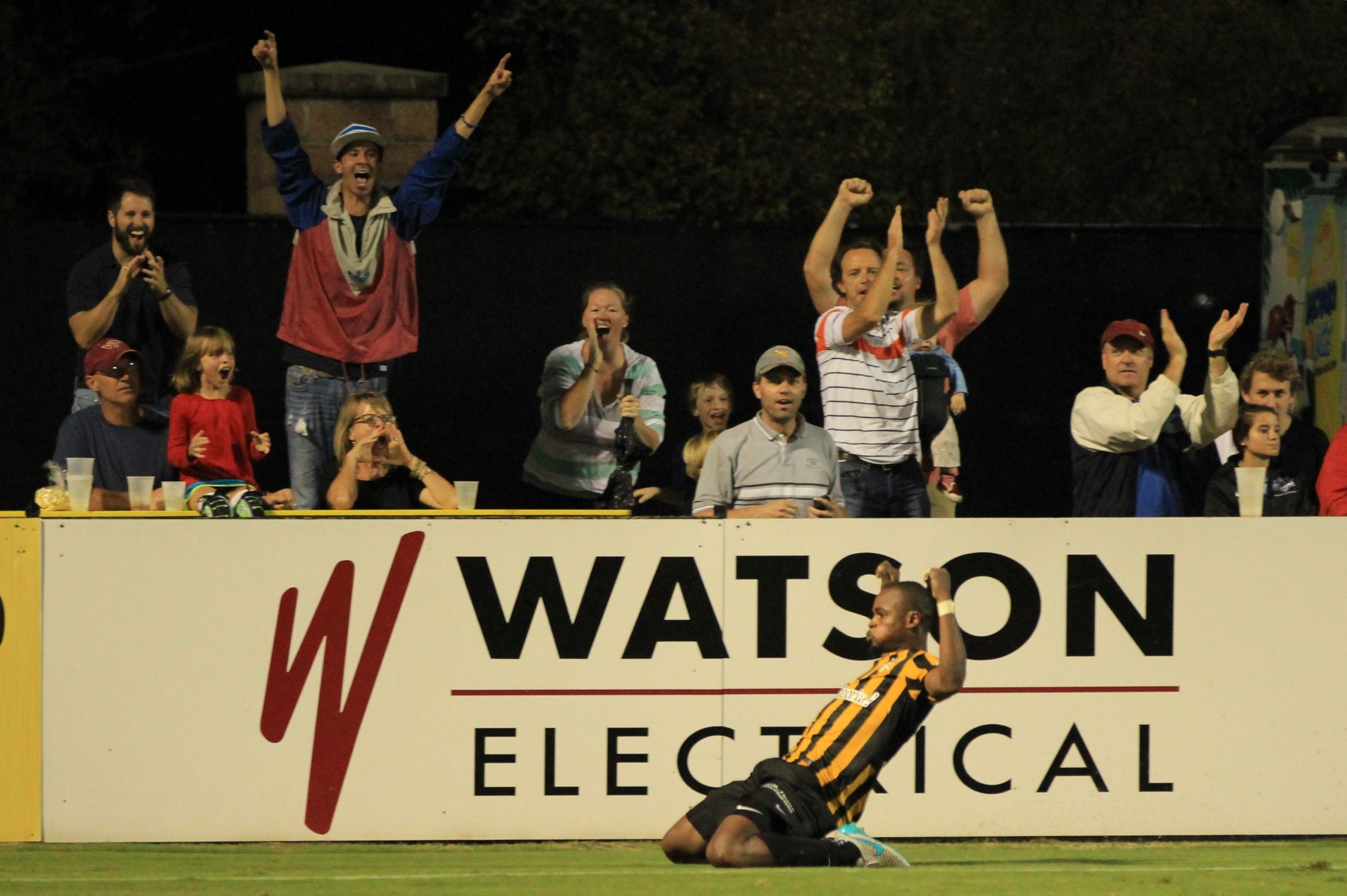Amazing picture capturing Dane Kelly celebrating his extra time equalizer.
