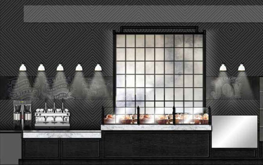 Rendering of Cafe 605