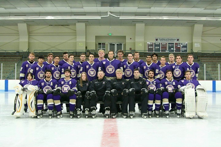 Purple and gold on ice