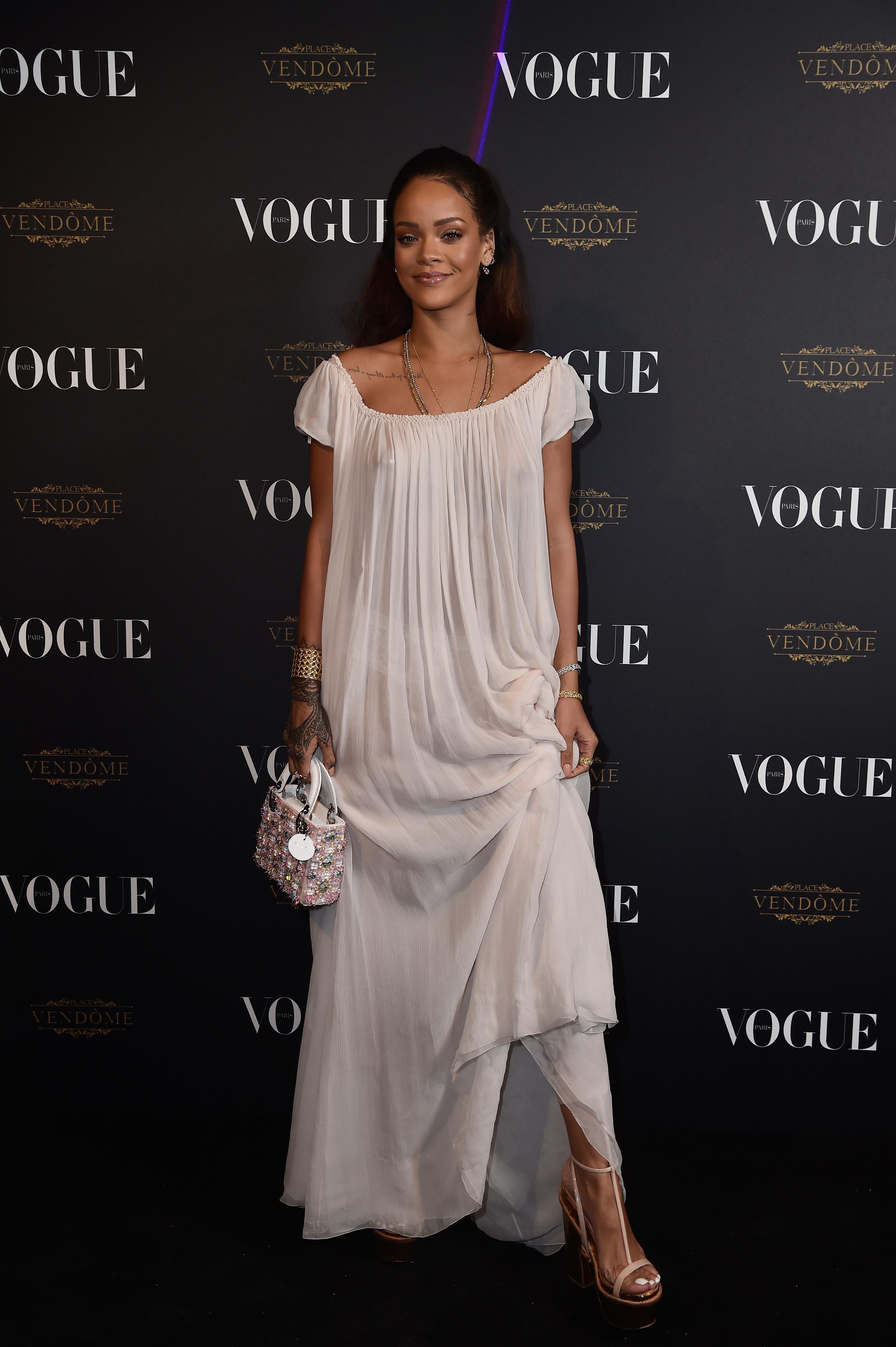 Rihanna's Nipple Ring Is on Trend Again at Paris Fashion Week