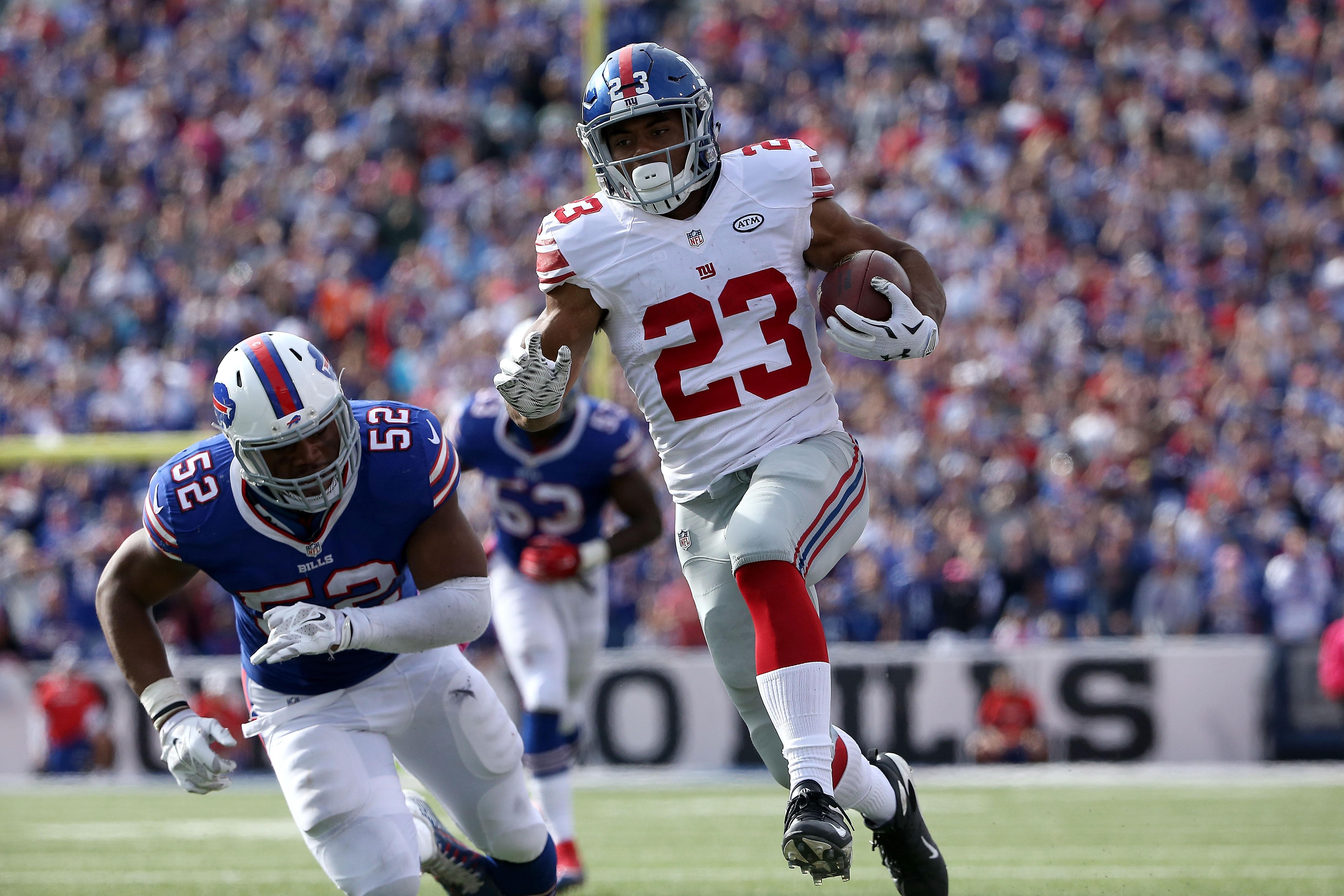 Rashad Jennings en route to a 51-yard fourth-quarter touchdown