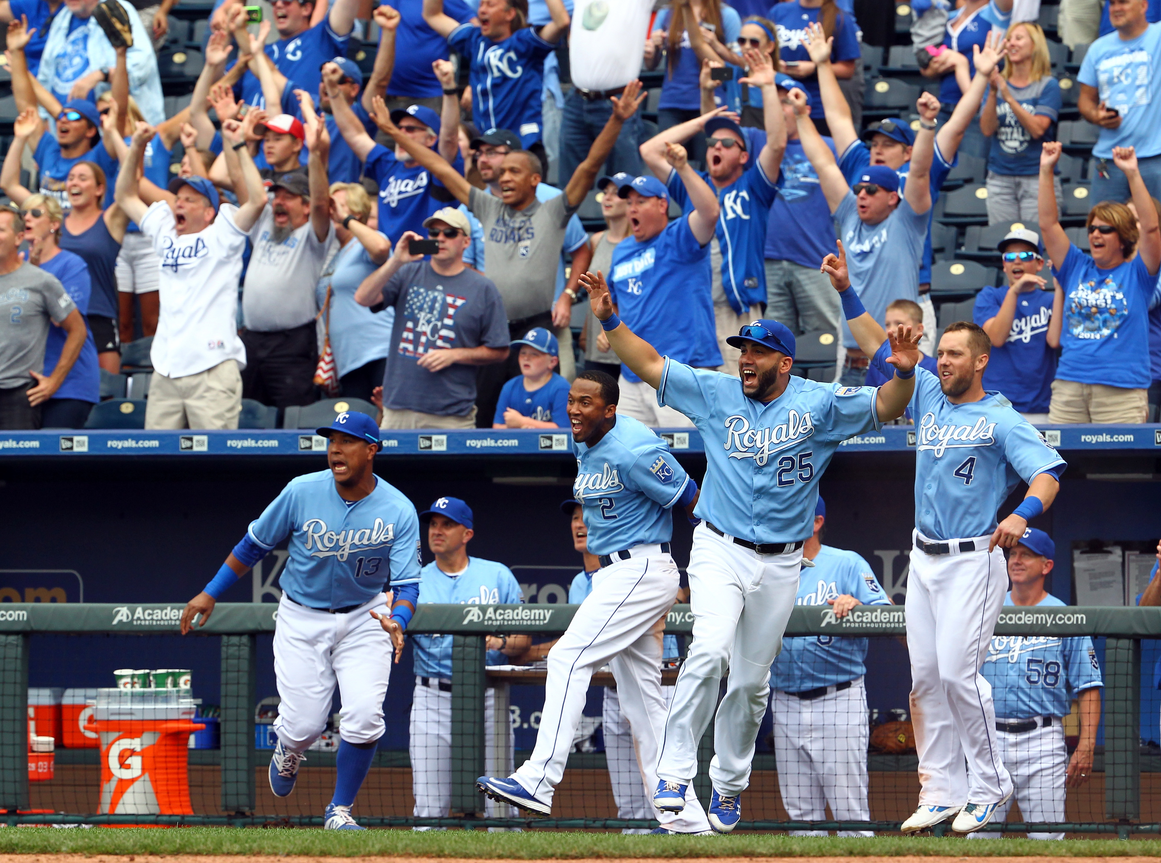 Paulo Orlando's July 7 walkoff grand slam was a highlight of the first half.