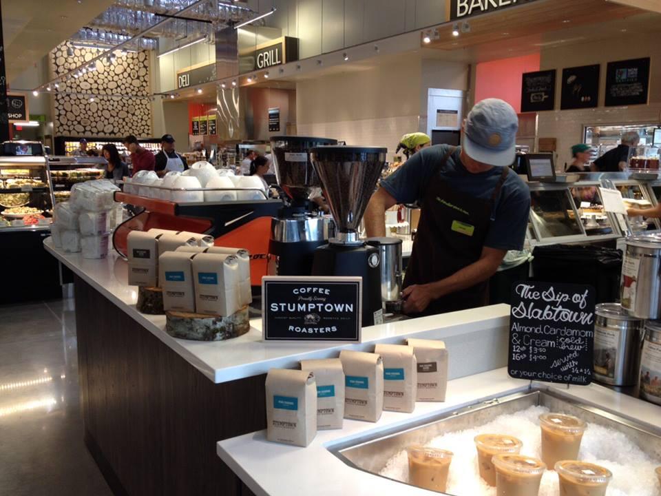 Stumptown Coffee inside of New Seasons Market