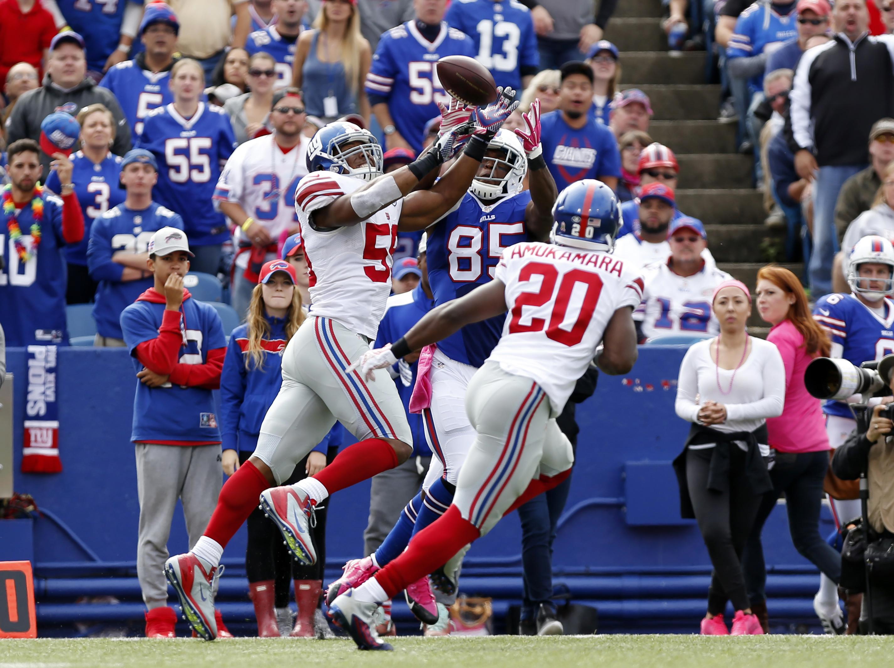Devon Kennard made this interception vs. the Bills