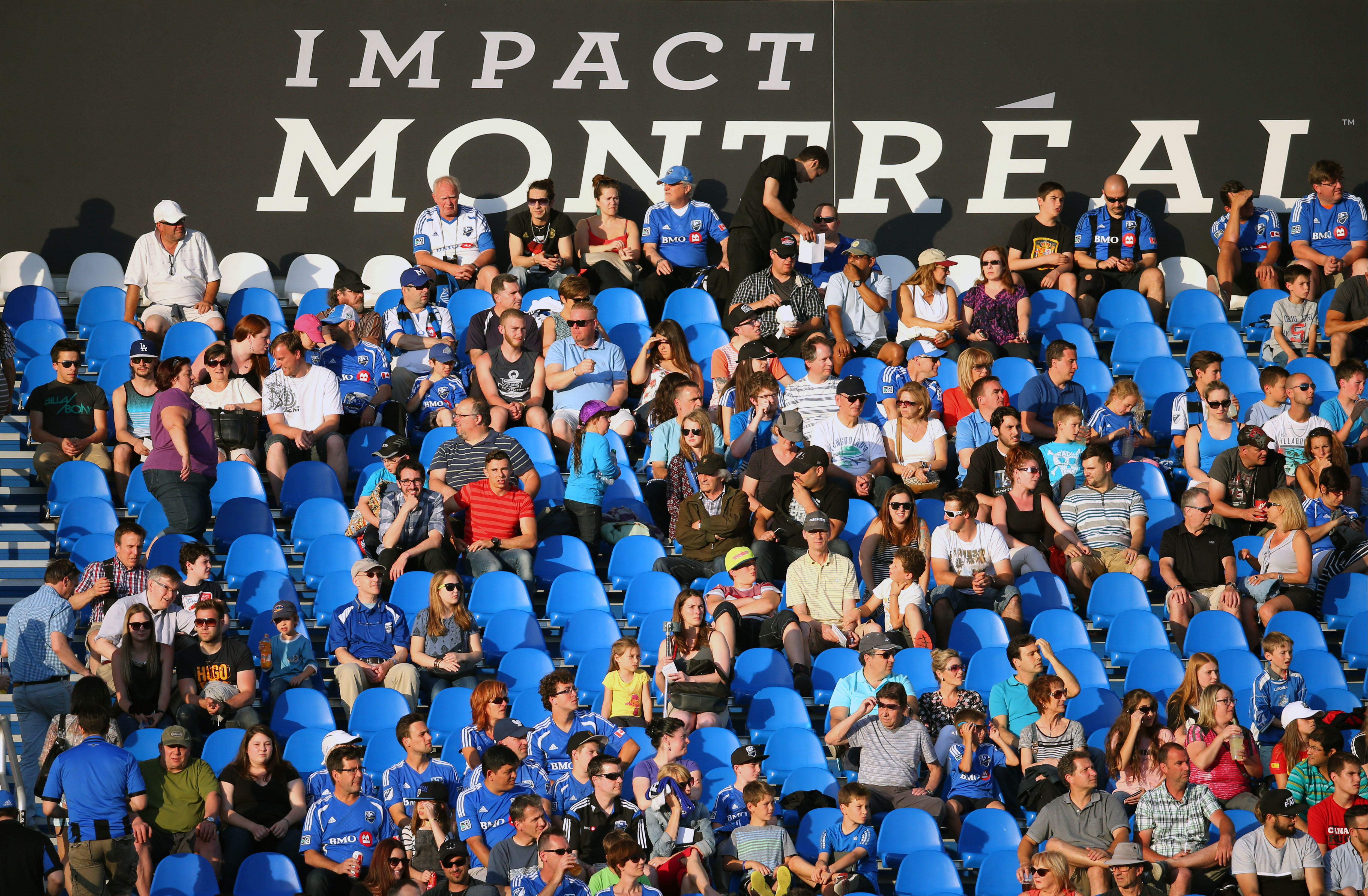 A shot of the fans at Stade Saputo, where IMFC have been more successful this season.