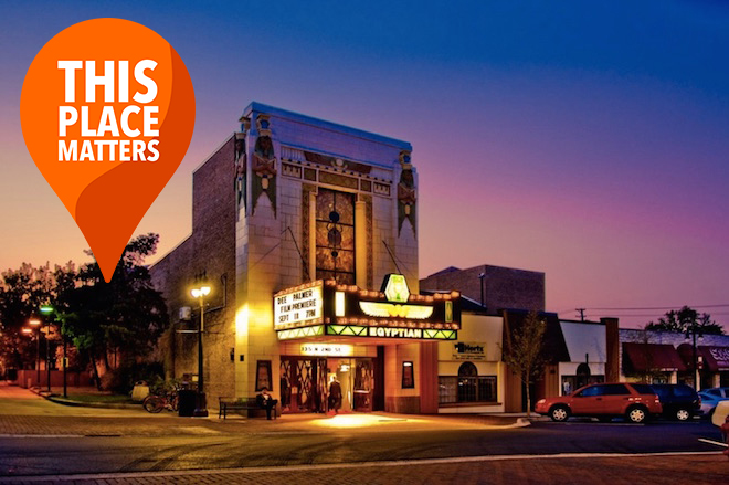Curbed's #ThisPlaceMatters, image via Egyptian Theatre.