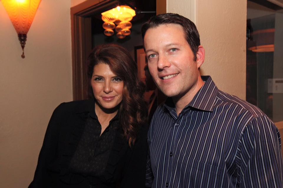 Marisa Tomei with Barolo owner Ryan Fletter