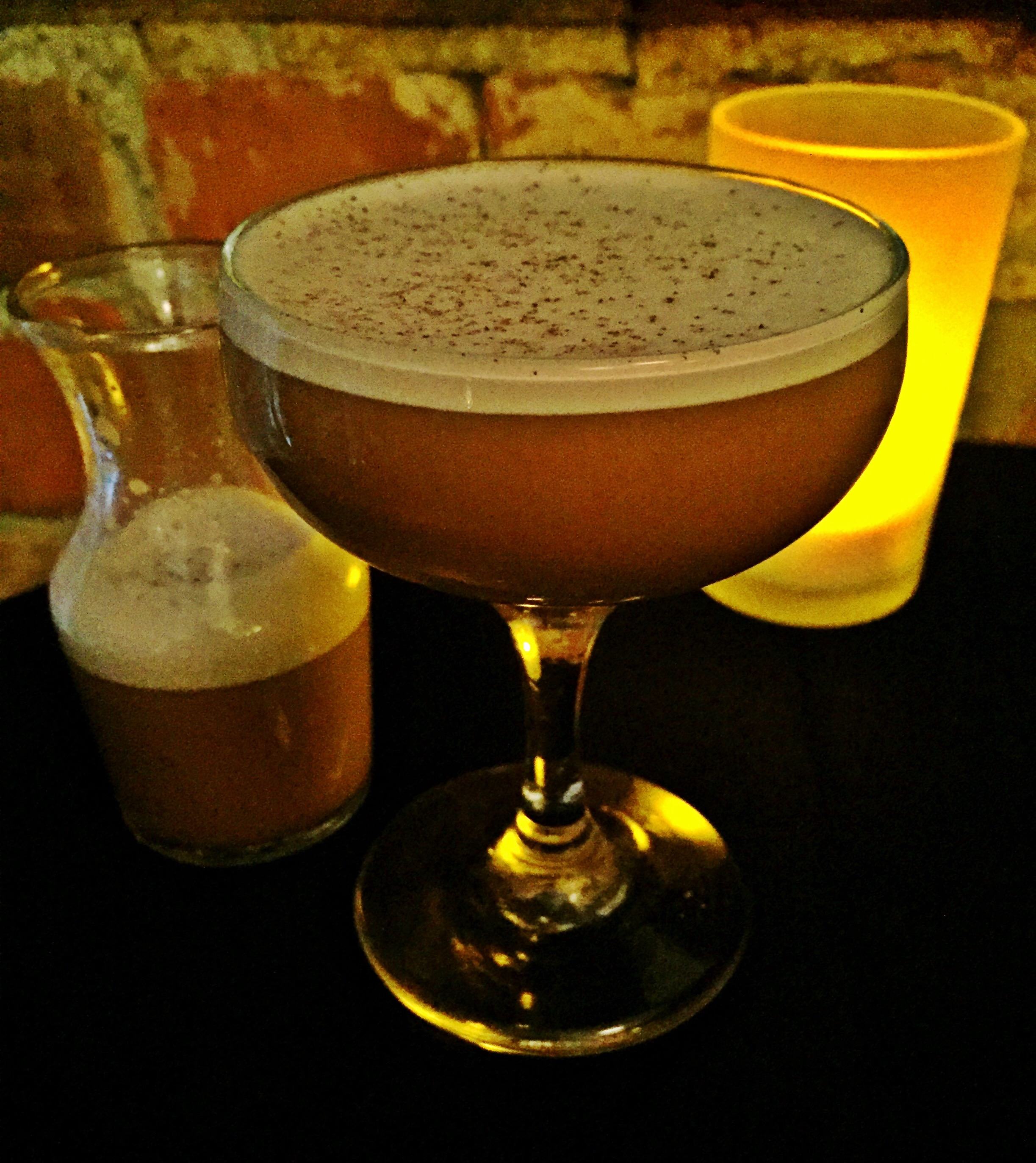 """The """"Improved Coffee Cocktail"""" at The Sugar House."""