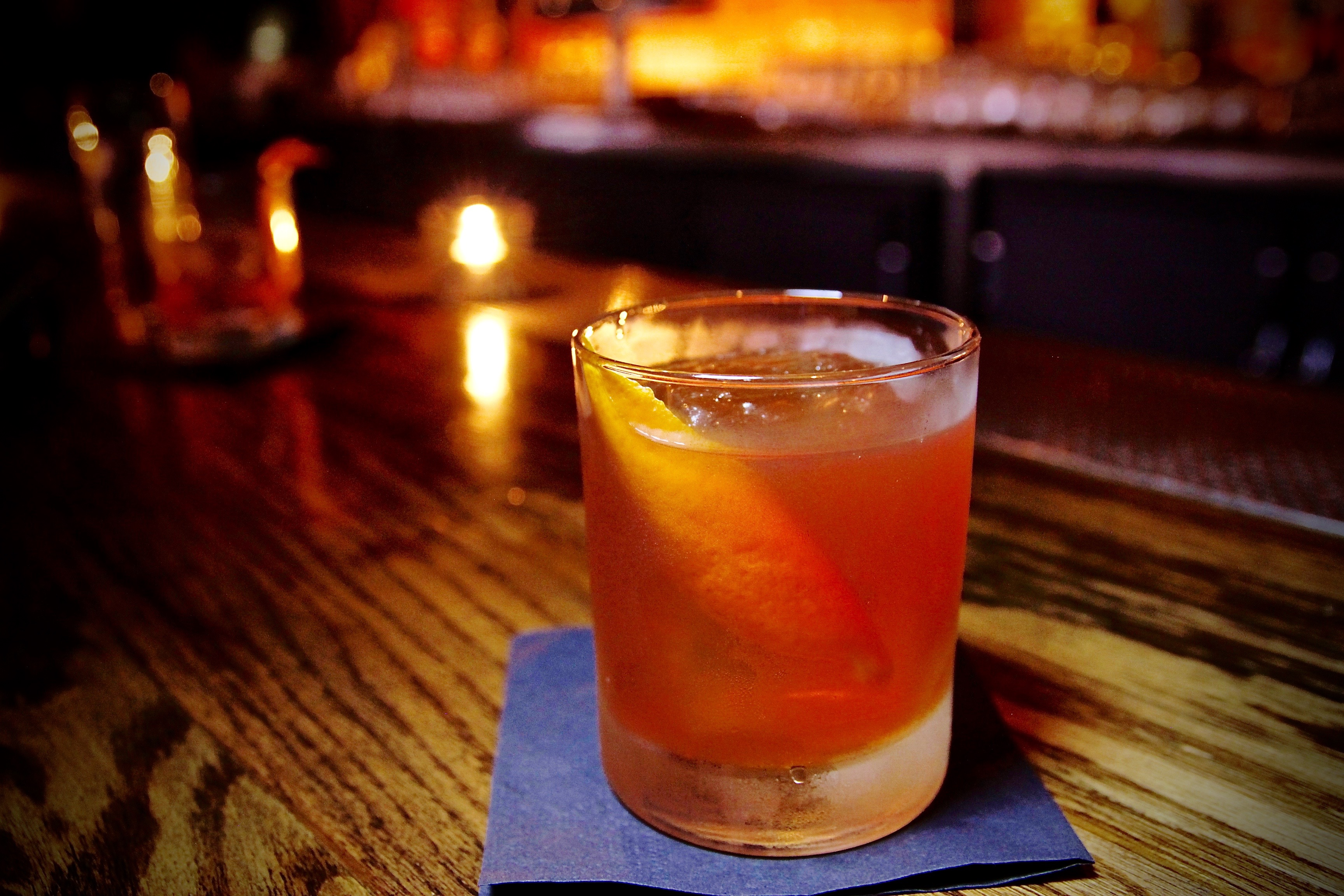 Barrel-Aged Old Fashioned at The Corner Door