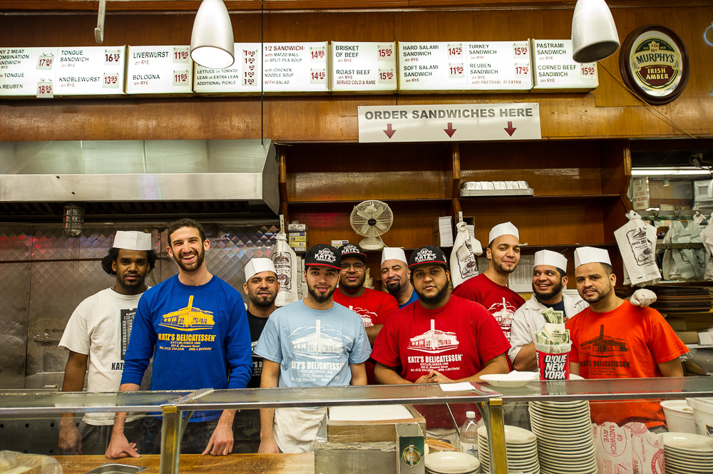 [Jake Dell (second from the left) with the Katz's team.]