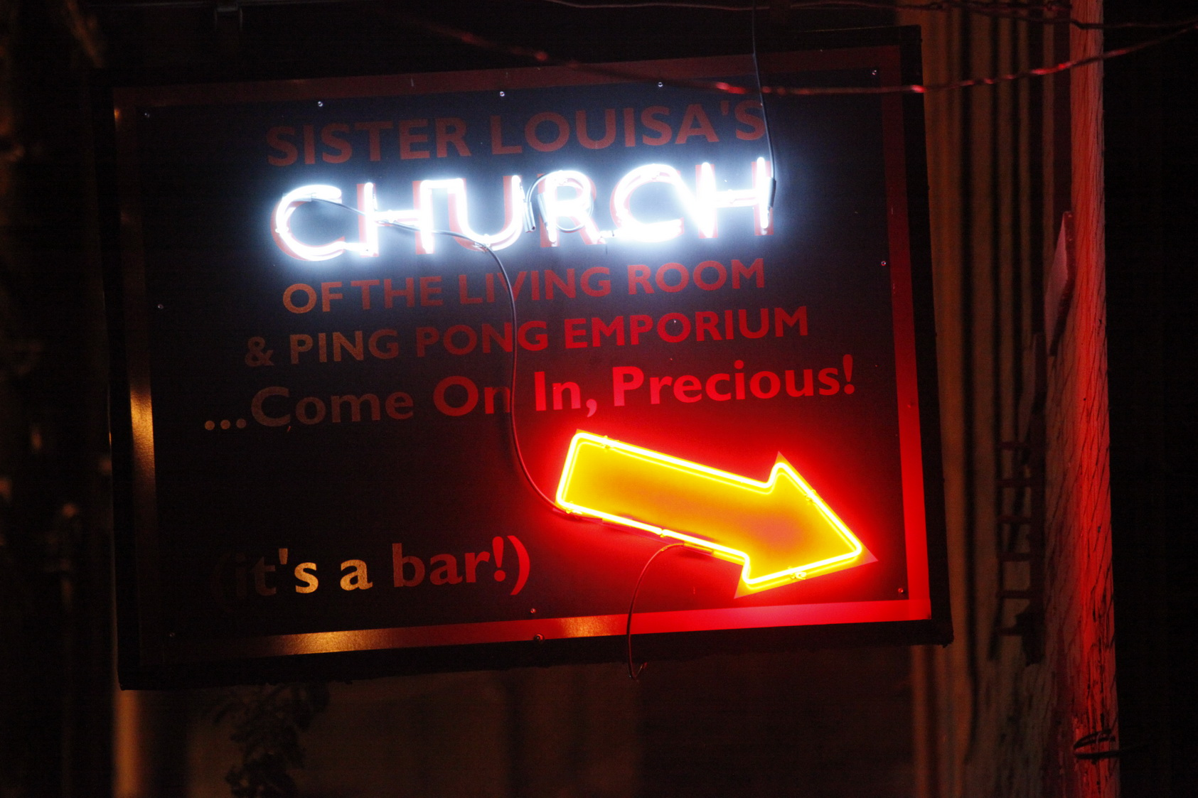 Sister Louisas Church Of The Living Room And Ping Pong Emporium - The living room church