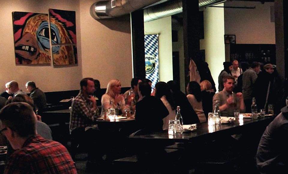 Dinner service at The Radler