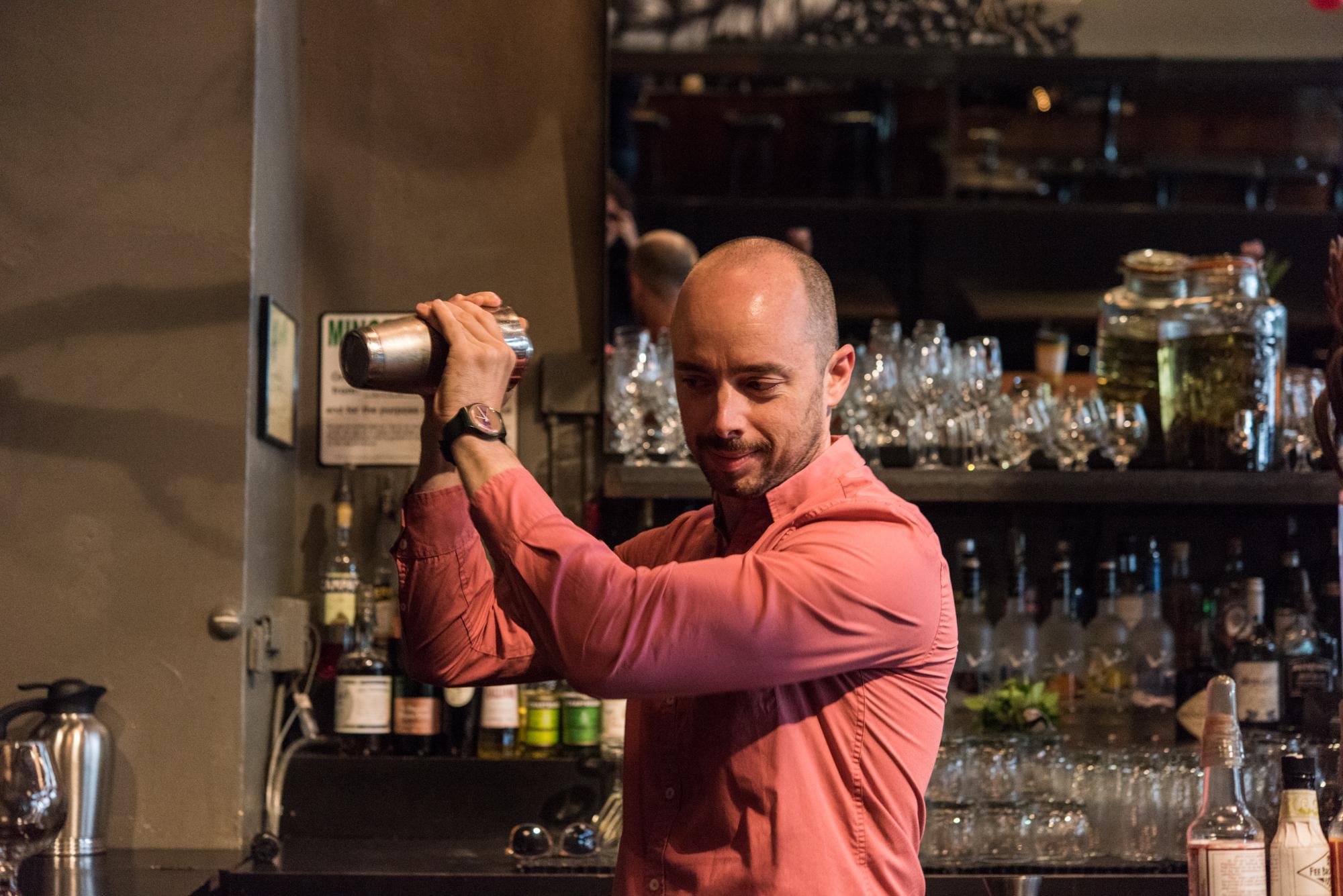 Lead bartender at Saucebox David Estes