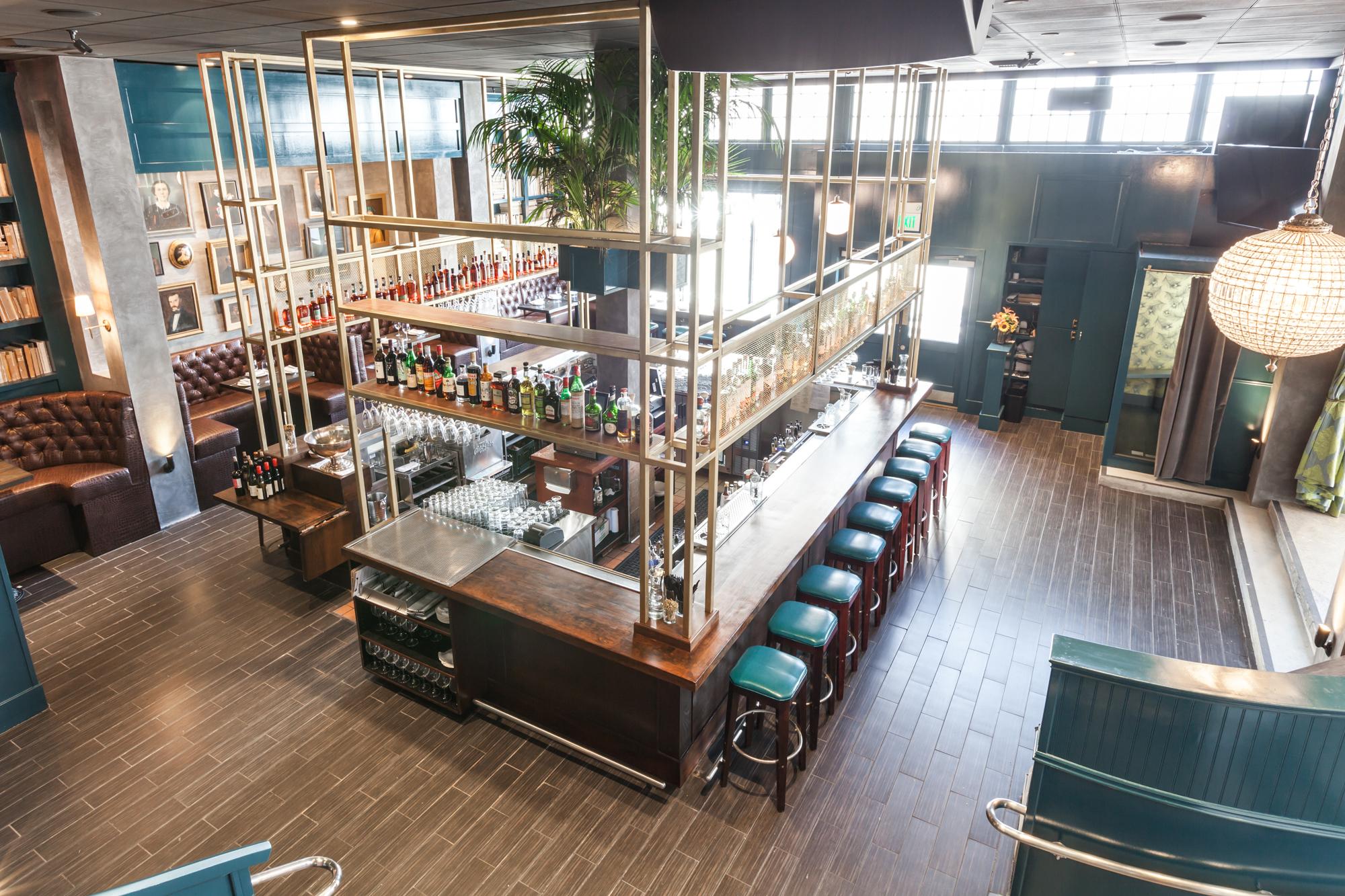 The bar at The Dorian.