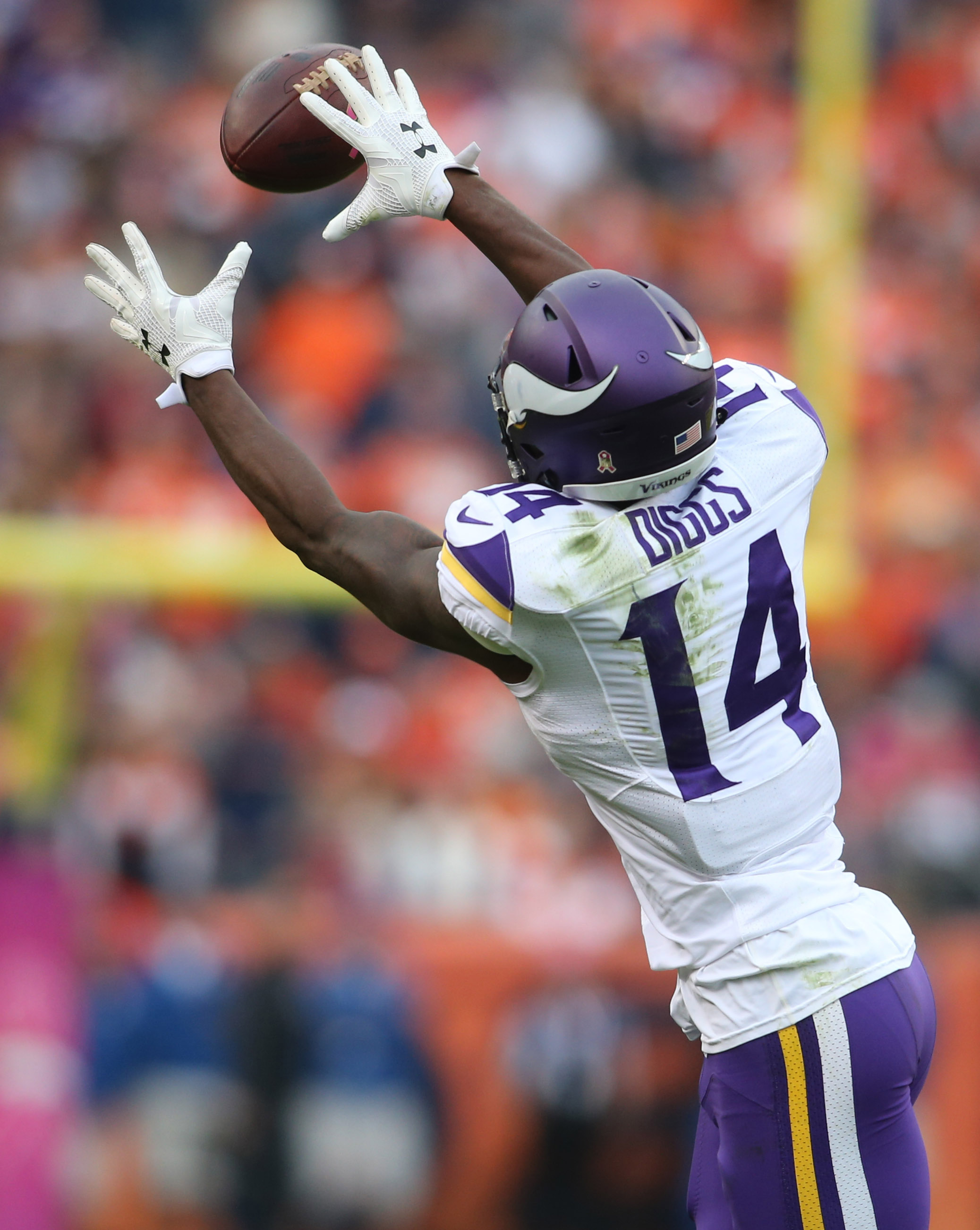 Stefon Diggs came out of nowhere last week catching 6 passes for 87 yards on 10 targets.