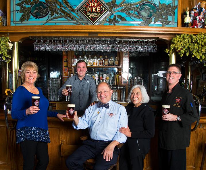 The owners of Pike Brewing Company: Patti Baker, Drew Gillespie, Charles Finkel, Rose Ann Finkel, Gary Marx