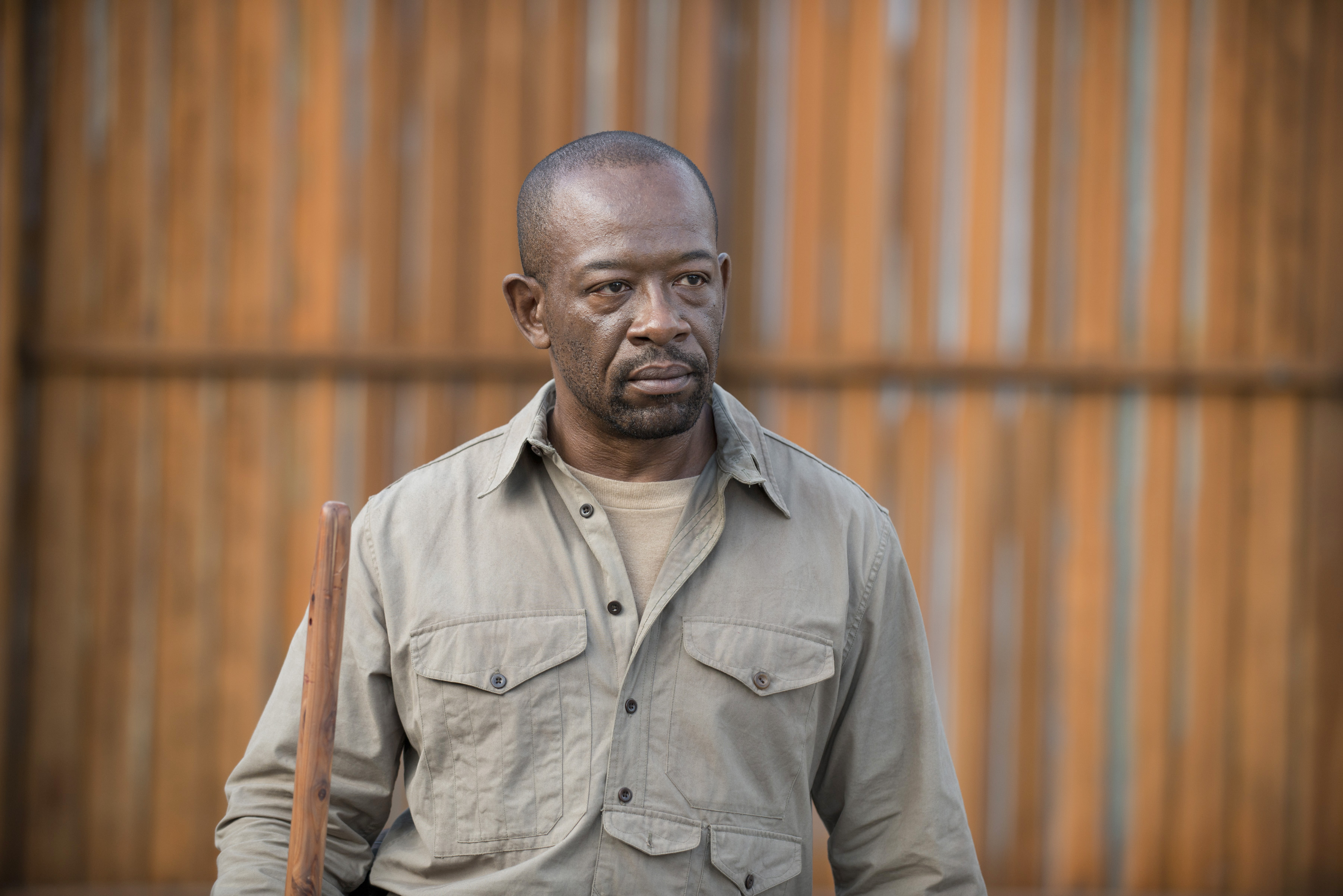 Things get tricky for Morgan (Lennie James) when the Wolves invade Alexandria.