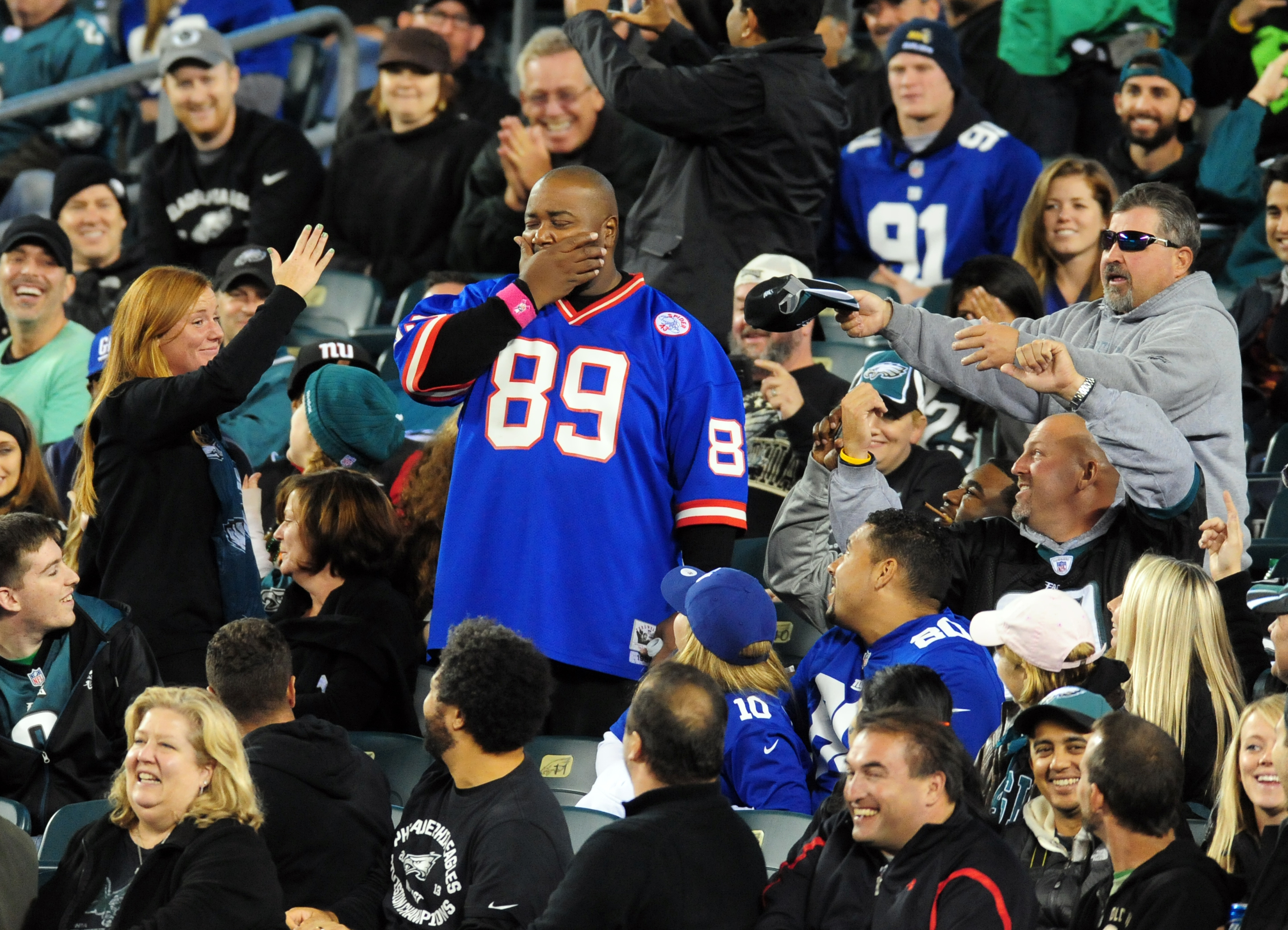 Will Giants fans get the last laugh in Philly on Monday night?