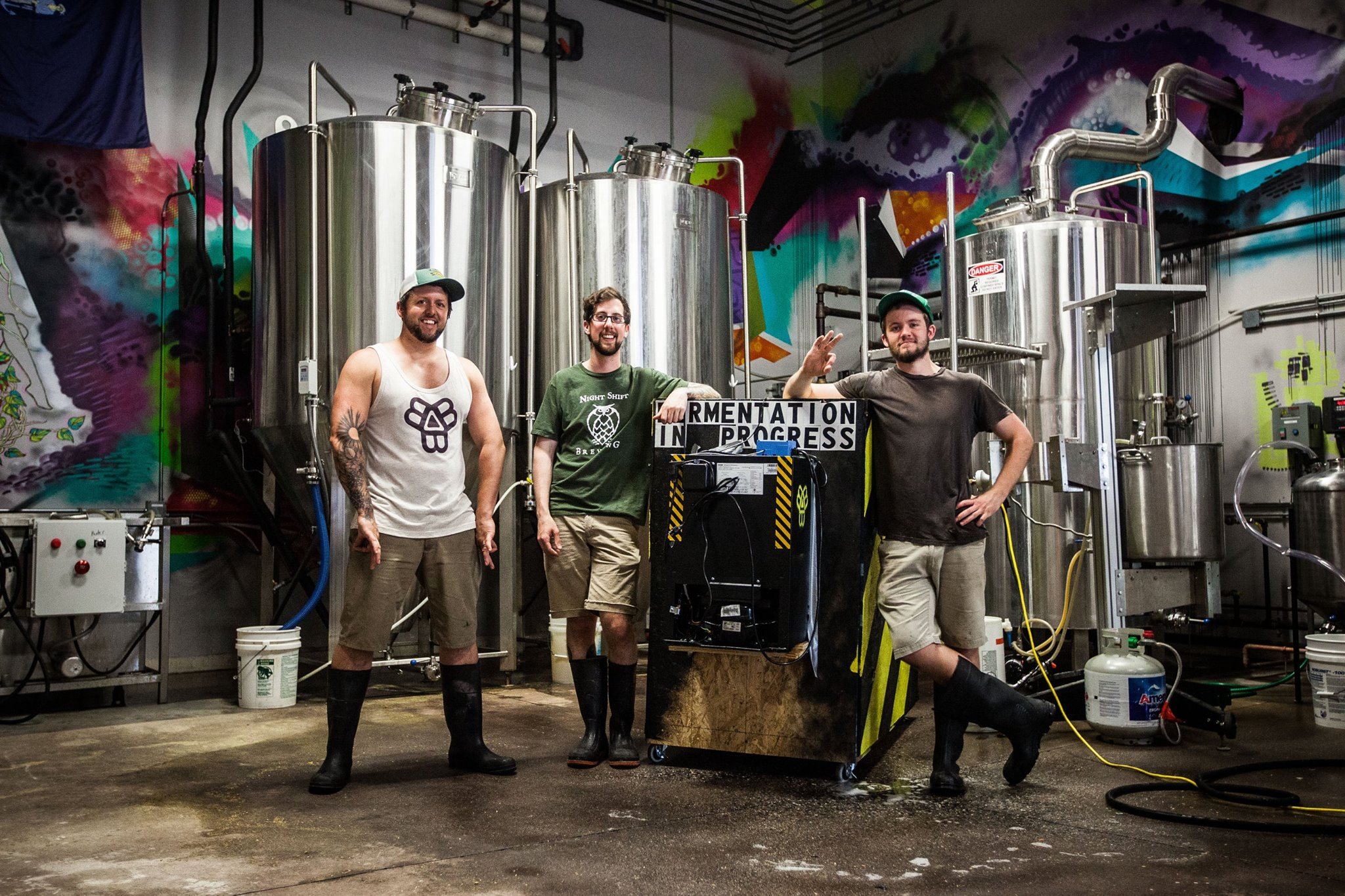 Bissell Brothers Brewing Company co-owners Peter Bissell (left) and Noah Bissell (right).