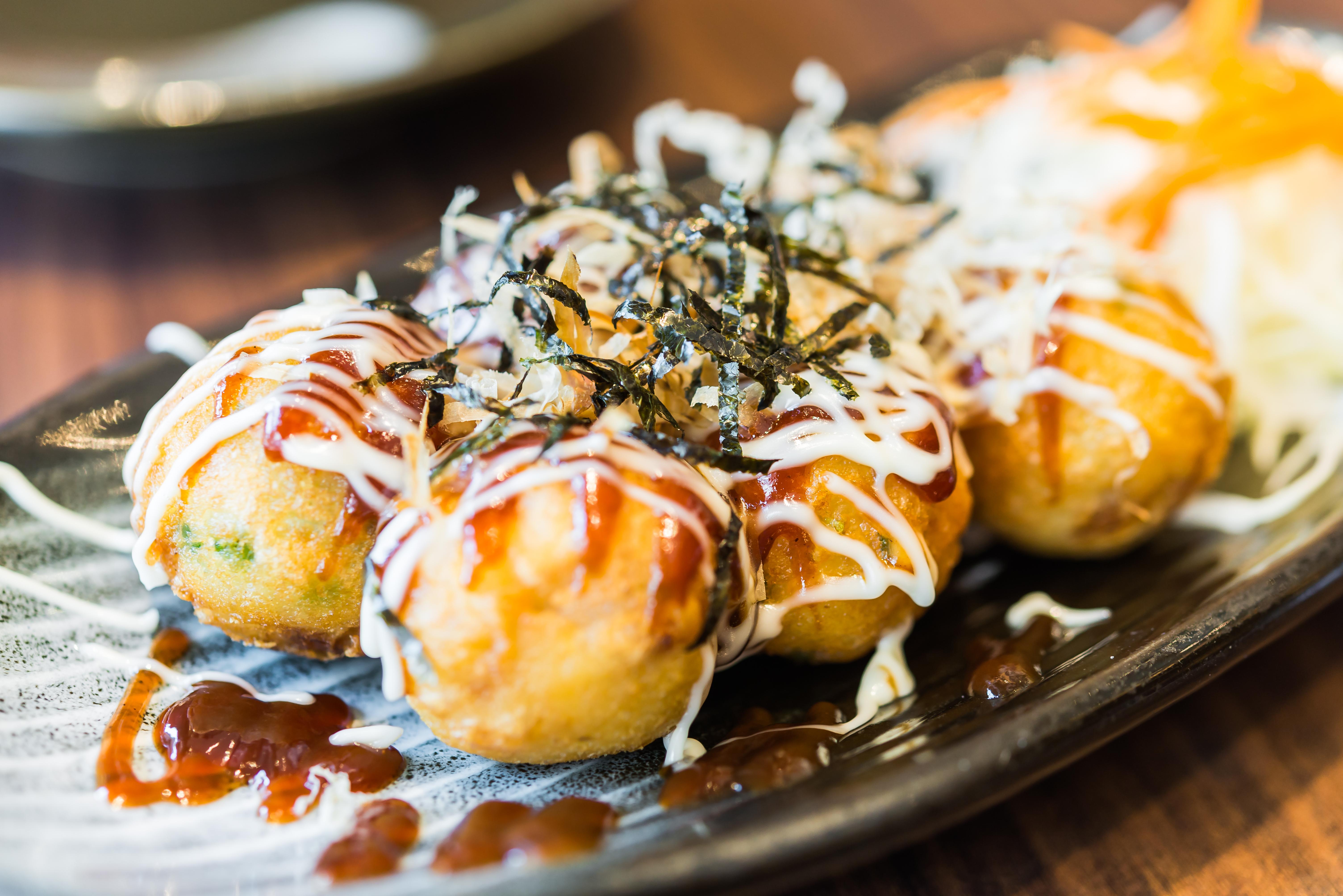 A traditional take on takoyaki