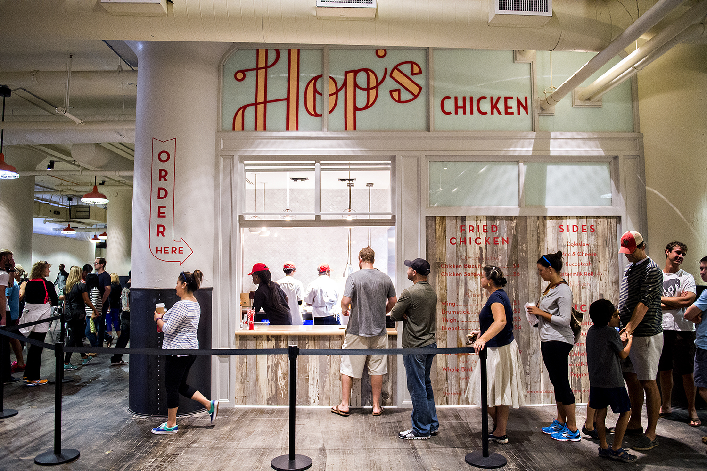 Hop's Chicken inside Ponce City Market.