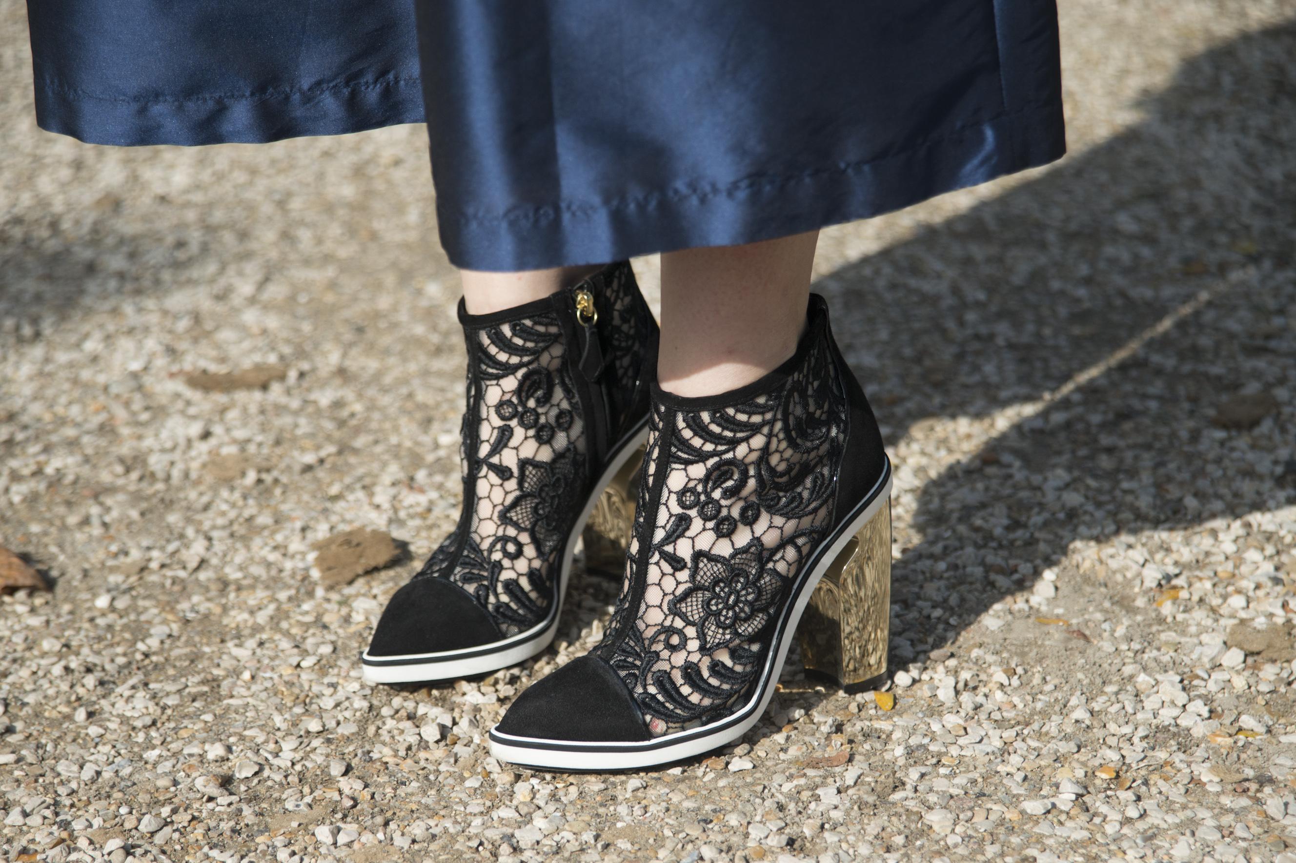 Nicholas Kirkwood shoes spotted at Paris Fashion Week in September 2014