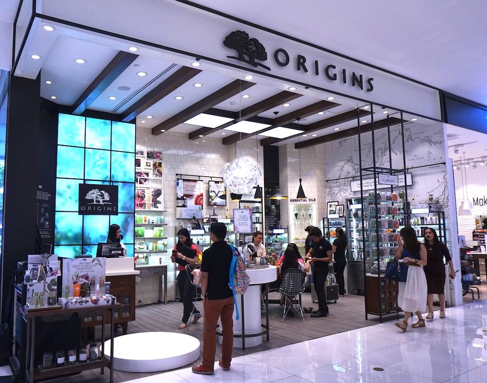 Example of new Origins concept store