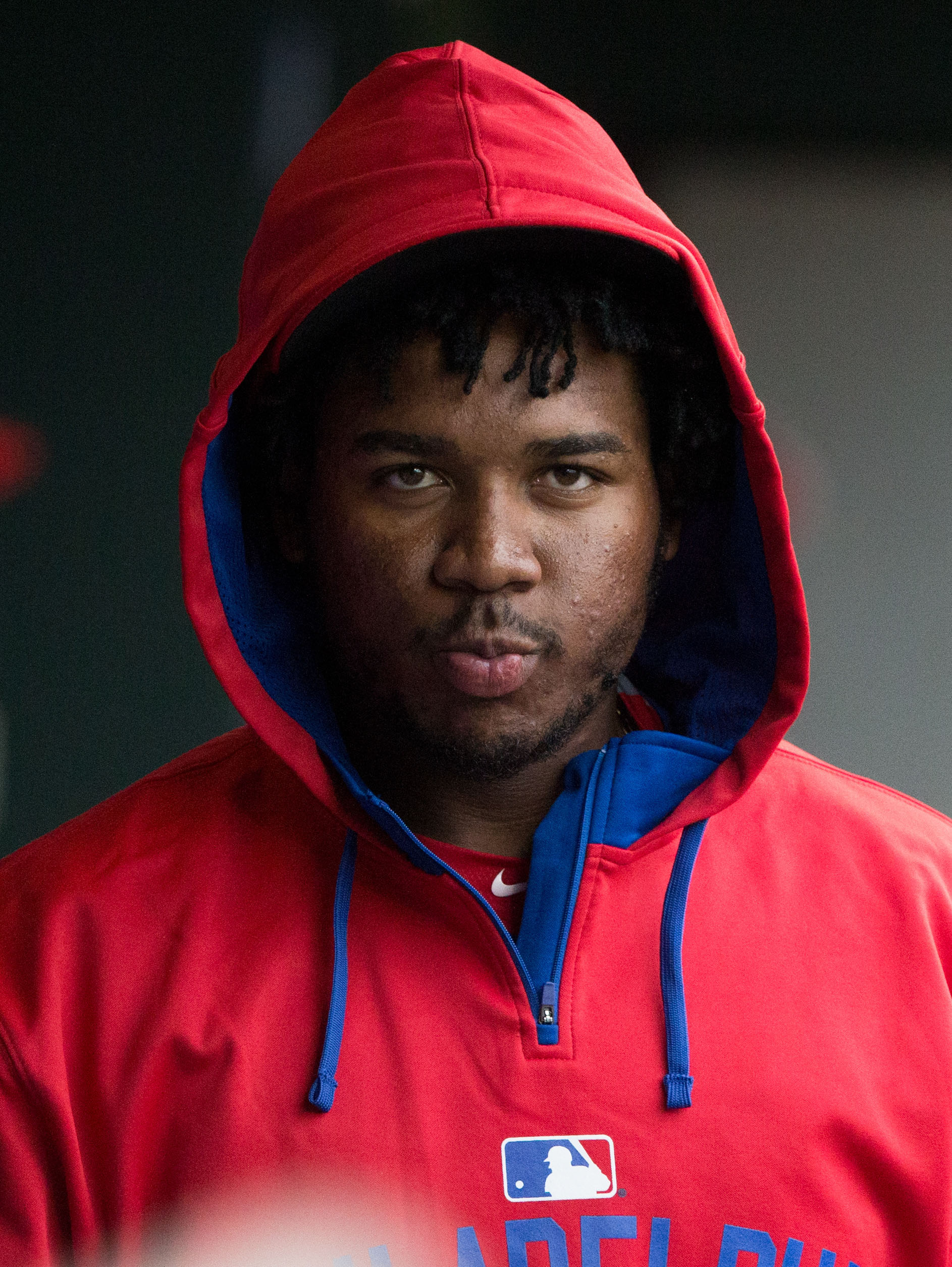 Maikel Franco is staring into your soul. Seriously though, he is one of the only hopes in Philly.