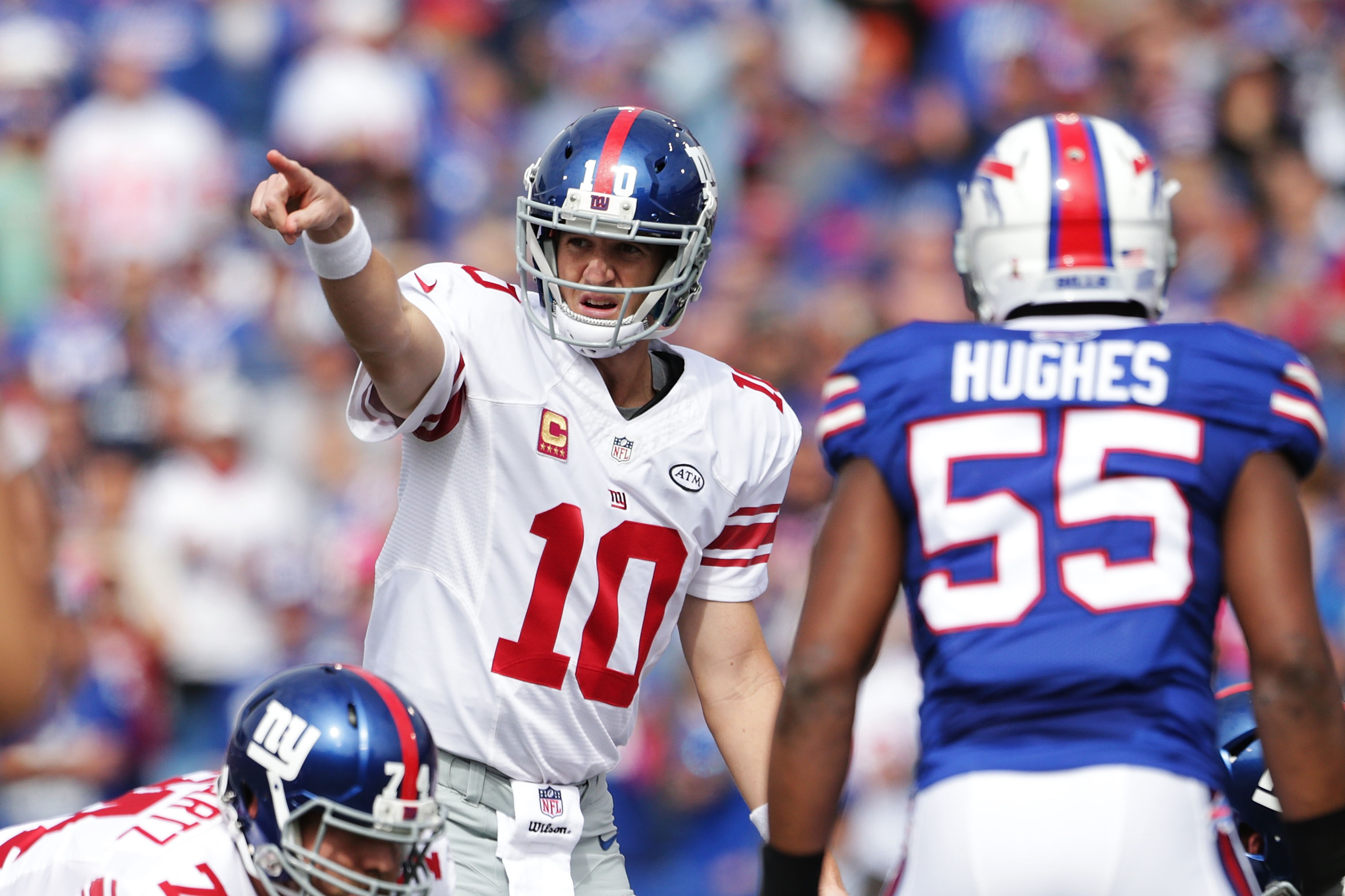 Is the needle pointing up or down for the Giants?