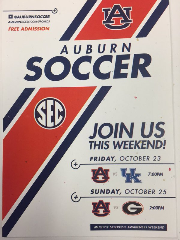 If you're in town this weekend, be sure to go see Auburn's seniors play their final regular season home game.