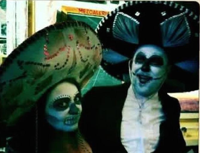 Dia de Muertos party at Mezcaleria Oaxaca.