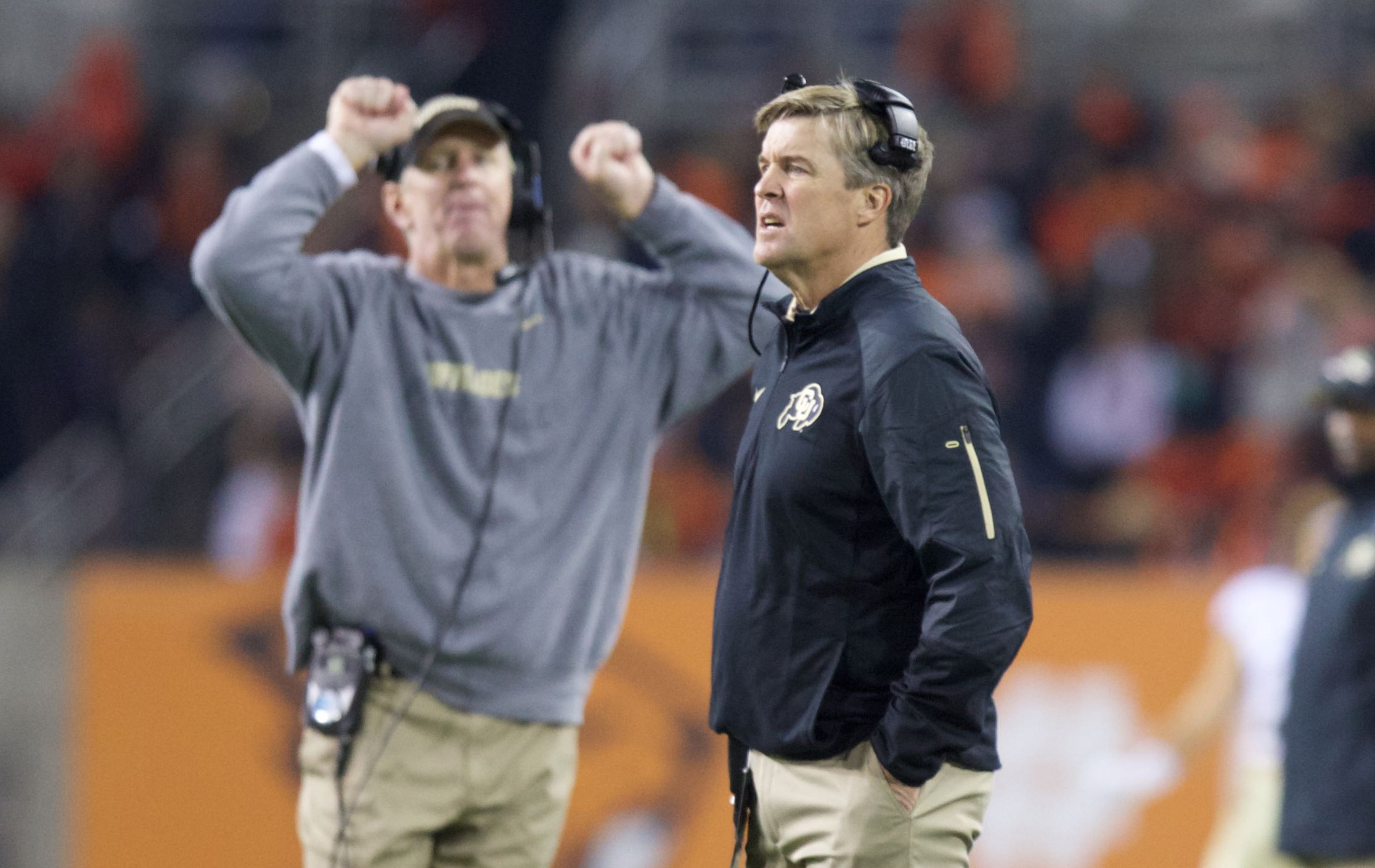 Look at him. Look how stressed he is. Let's have some fun, coach.