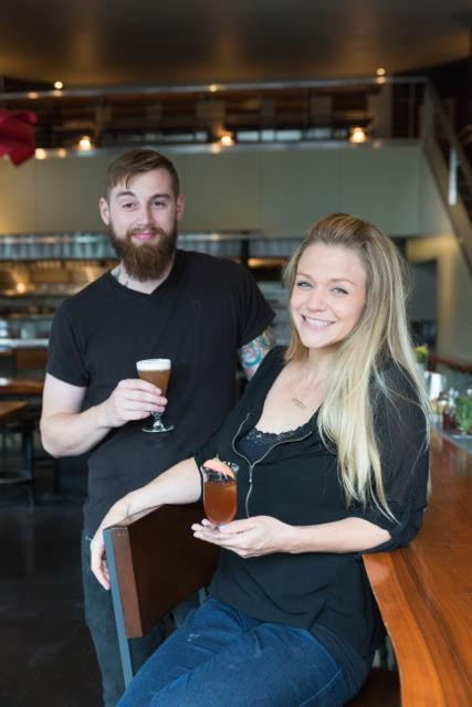 Tim Hagney, left, is taking over as bar manager as Kate Bolton, right, moves on from Maven.
