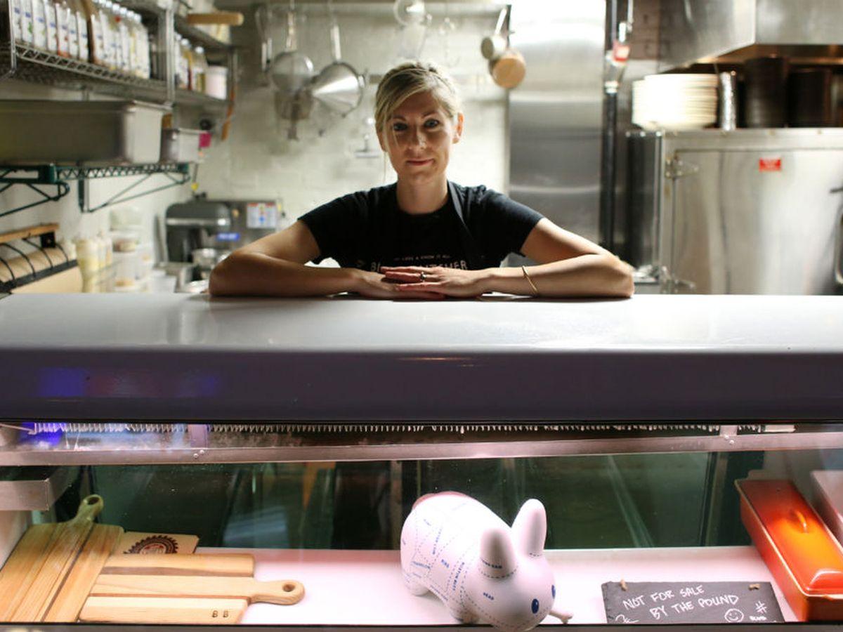 Miller in the kitchen at Blind Butcher