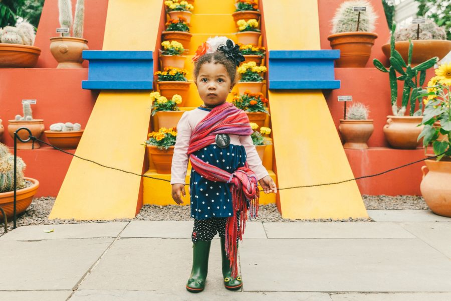 A young Frida Kahlo admirer on opening weekend