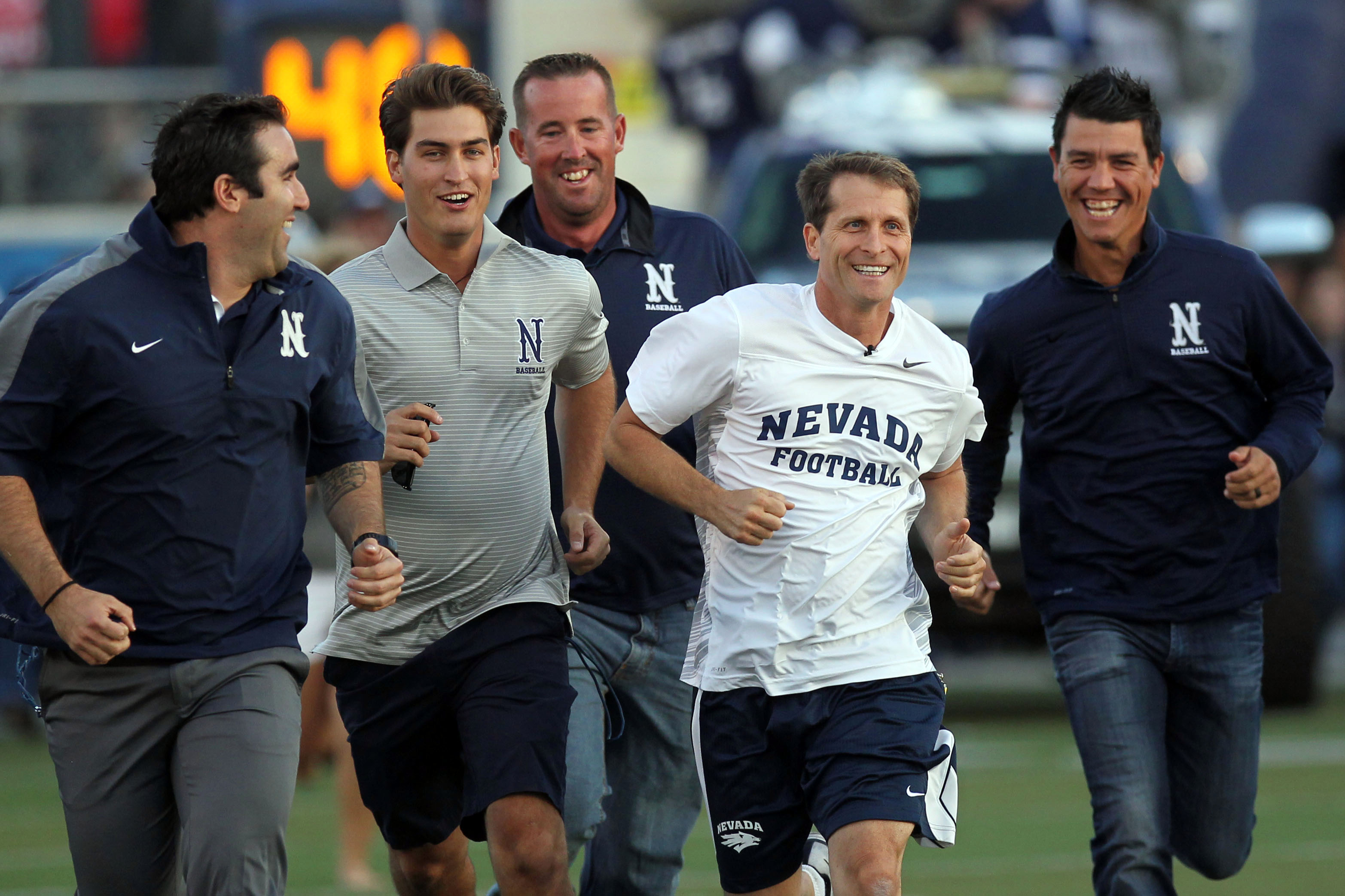 Eric Musselman (In white) still has a very strong recruiting class despite Cook decommiting