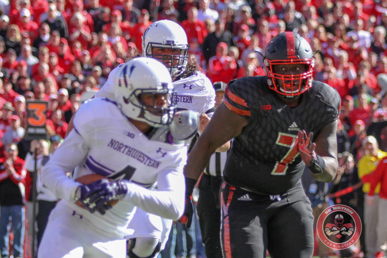 Nebraska's Maliek Collins chases down a Northwestern ballcarrier.