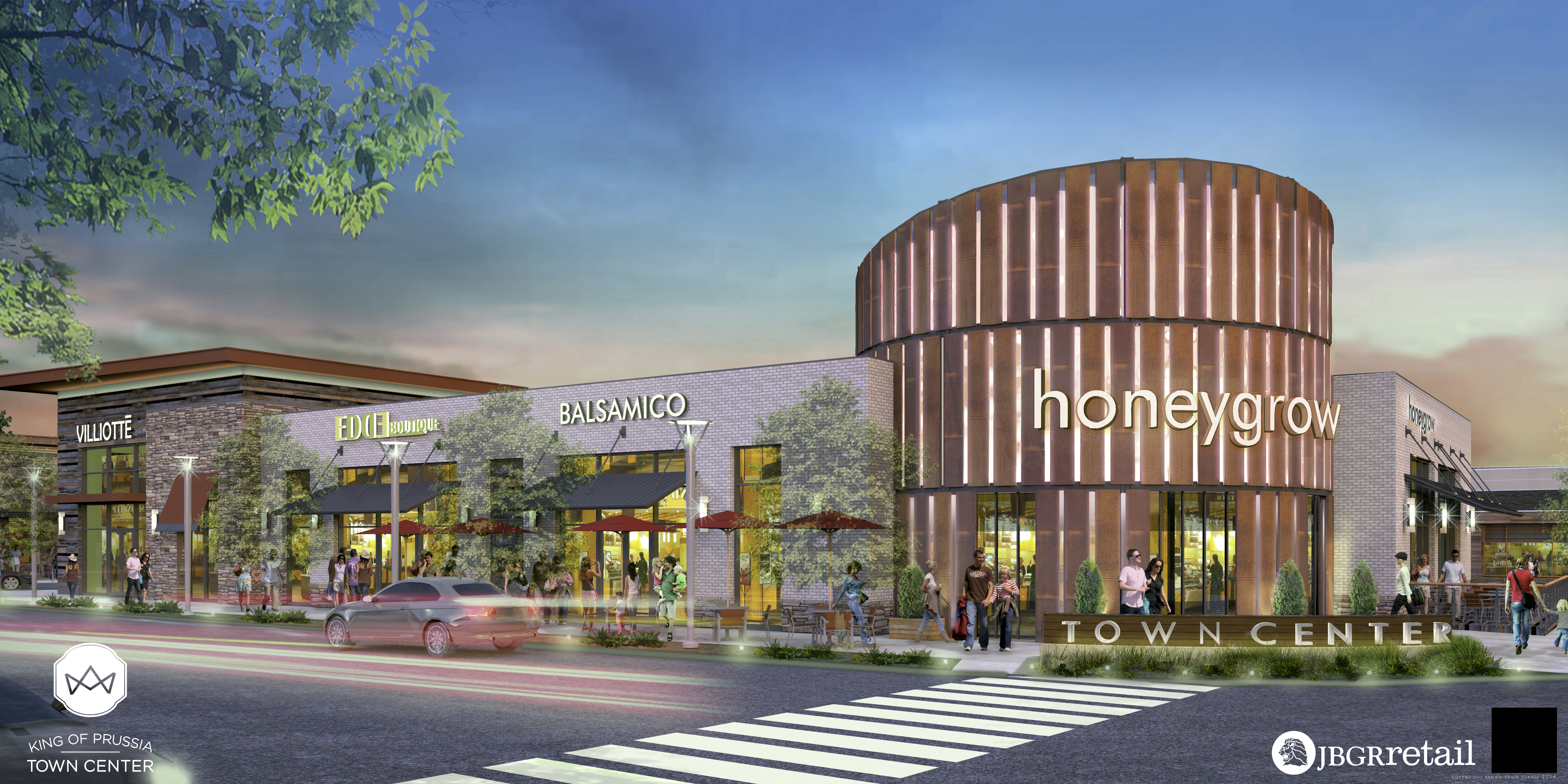 Artist Rendering of King of Prussia Town Center