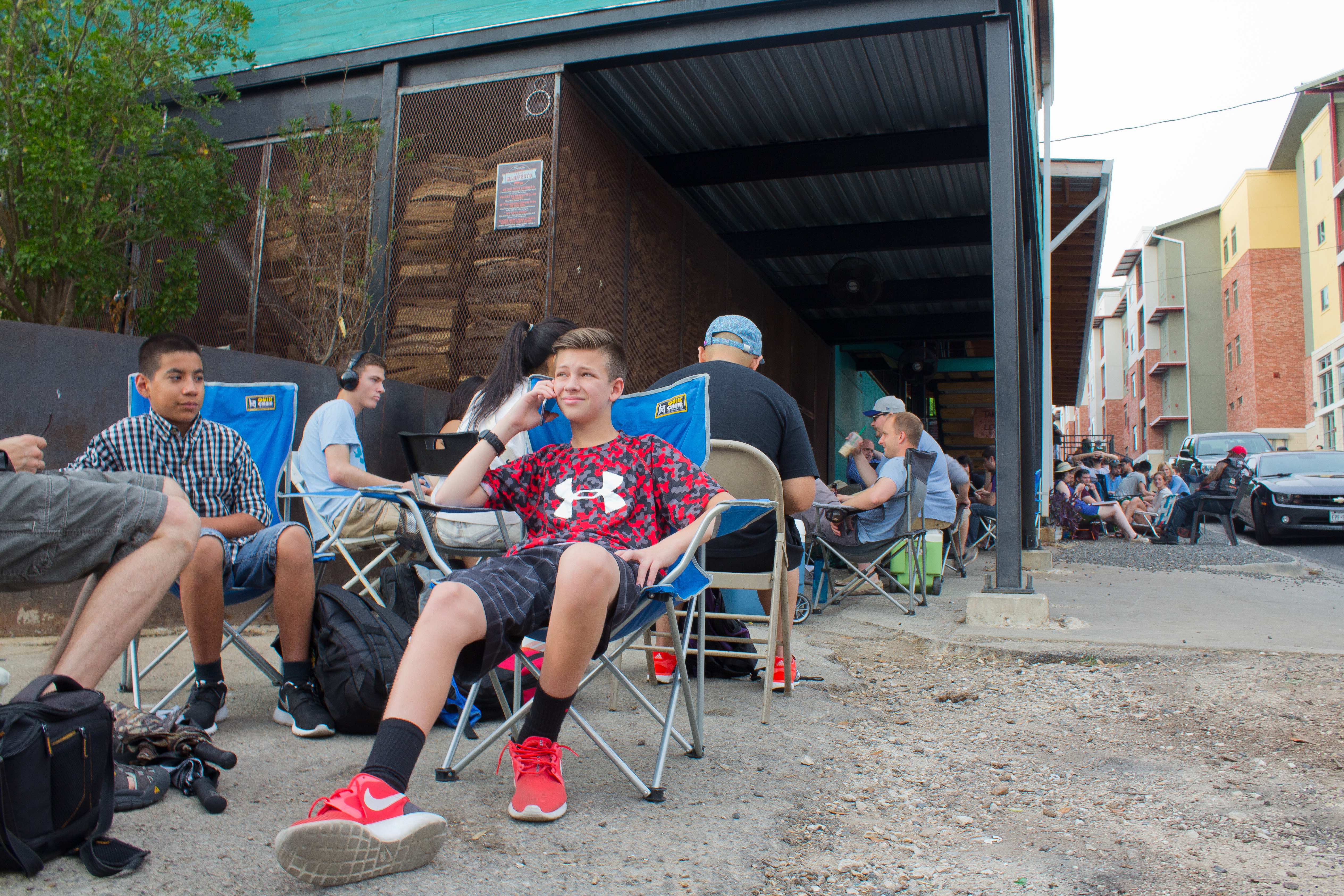 Desmond Roldan waiting in line at Franklin earlier this year.