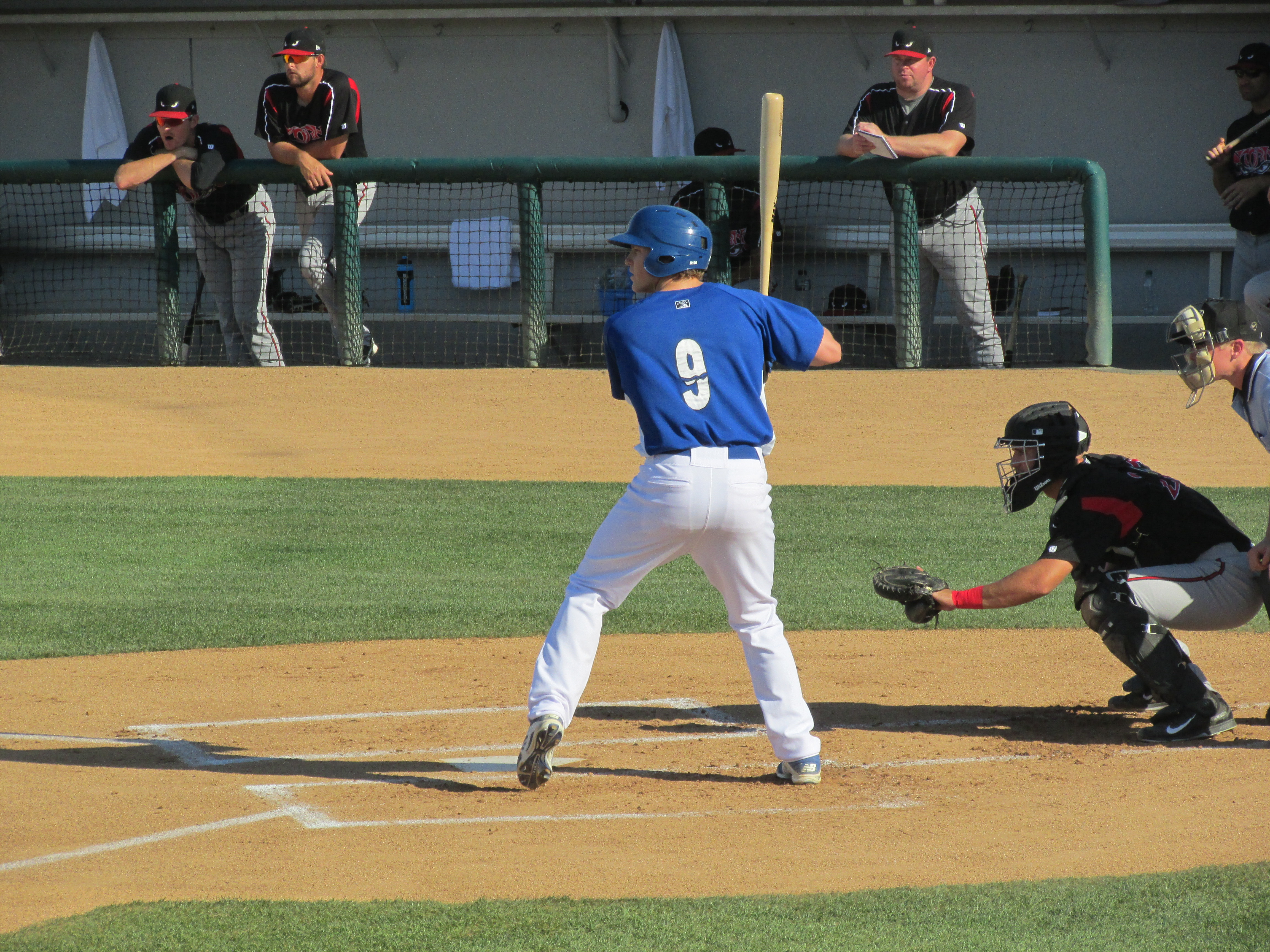 Brandon Dixon, seen here with Class-A Rancho Cucamonga in 2015, hit .500 (5-for-10) with a home run this week in the Arizona Fall League.