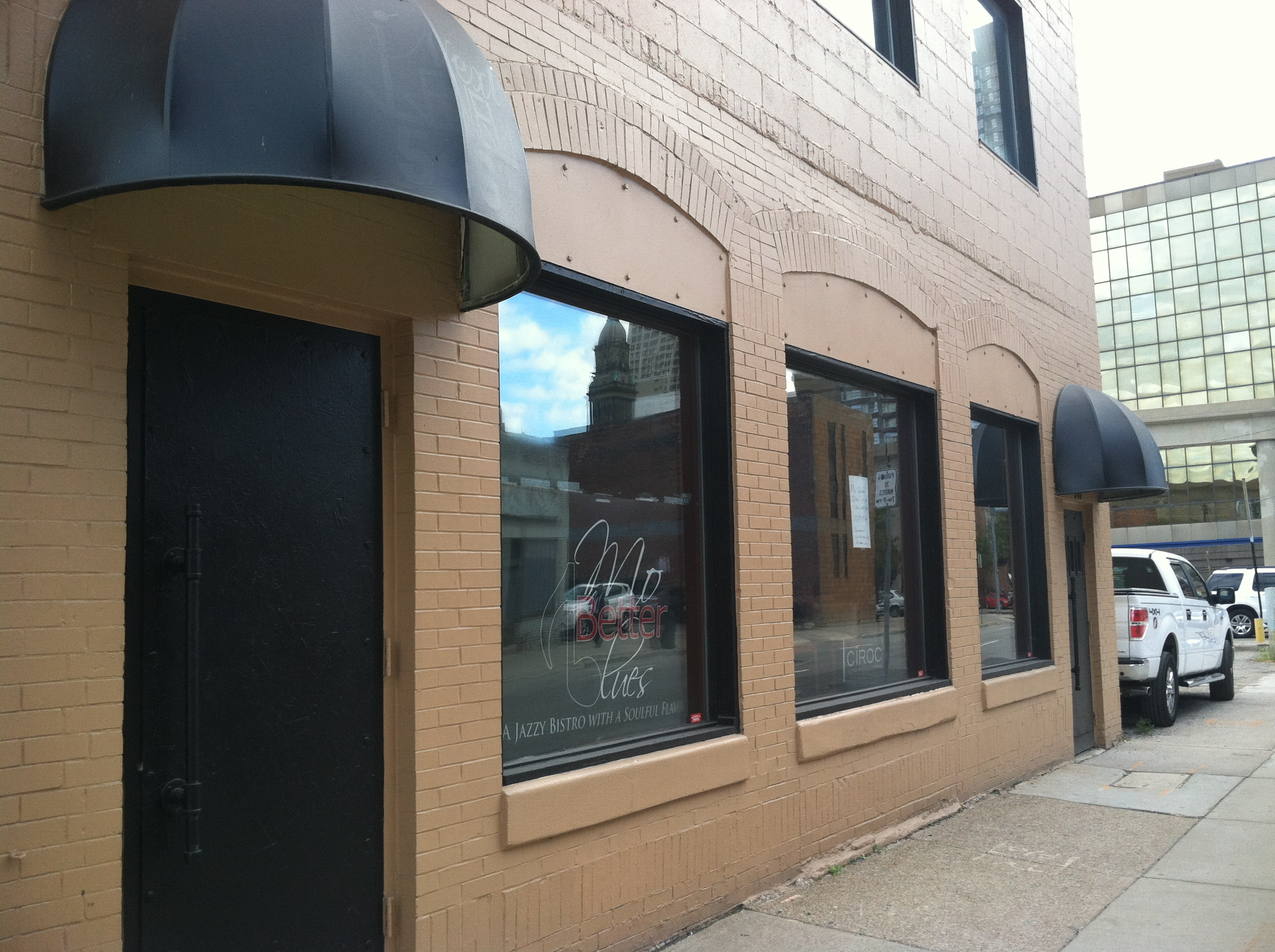 Mo Better Blues is located near Greektown and across from the old Opus One building.