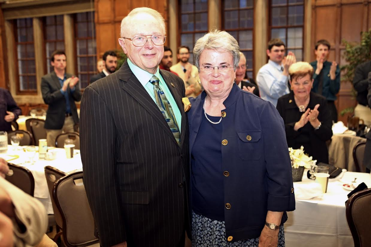Roy and his wife Sarah after the spring Band departmental banquet.