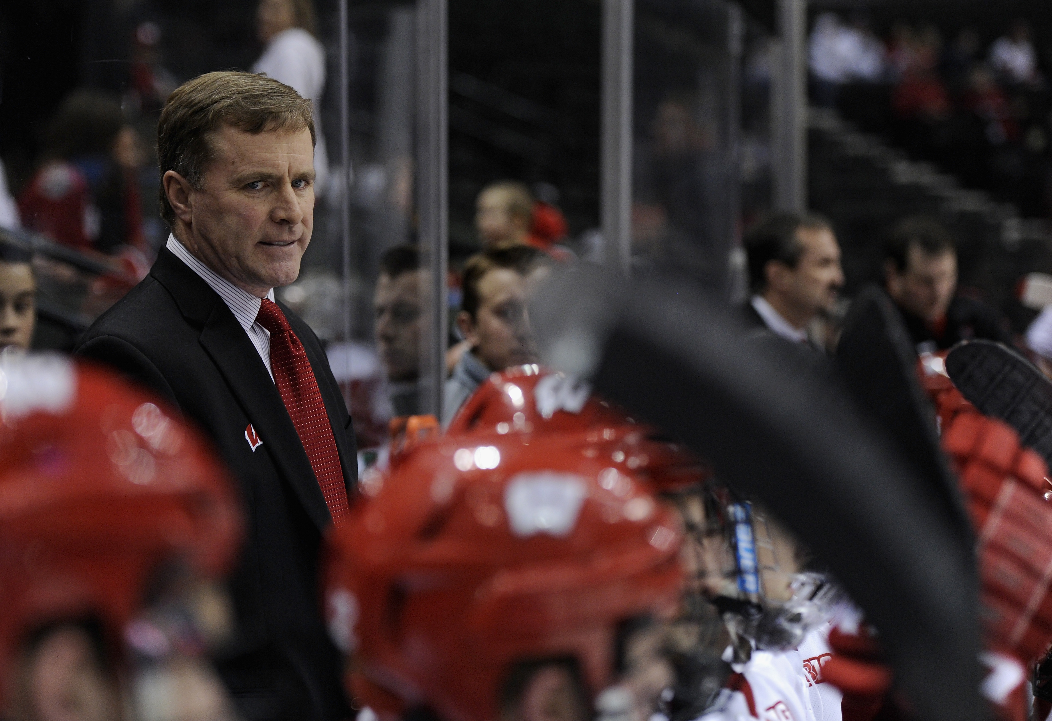 Wisconsin head coach Mike Eaves