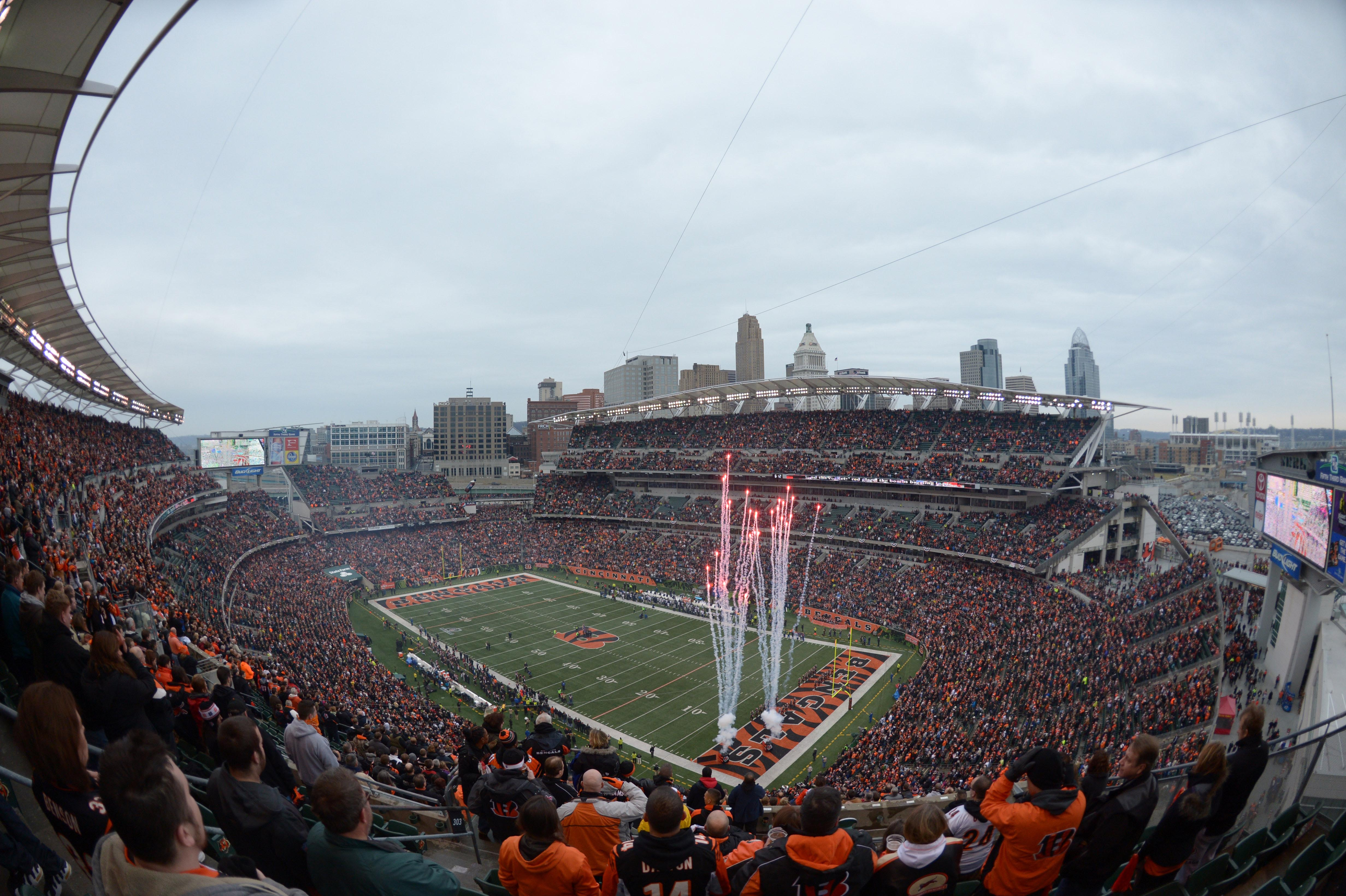Can you imagine the smell of this stadium after these fans eat Skyline Chili?