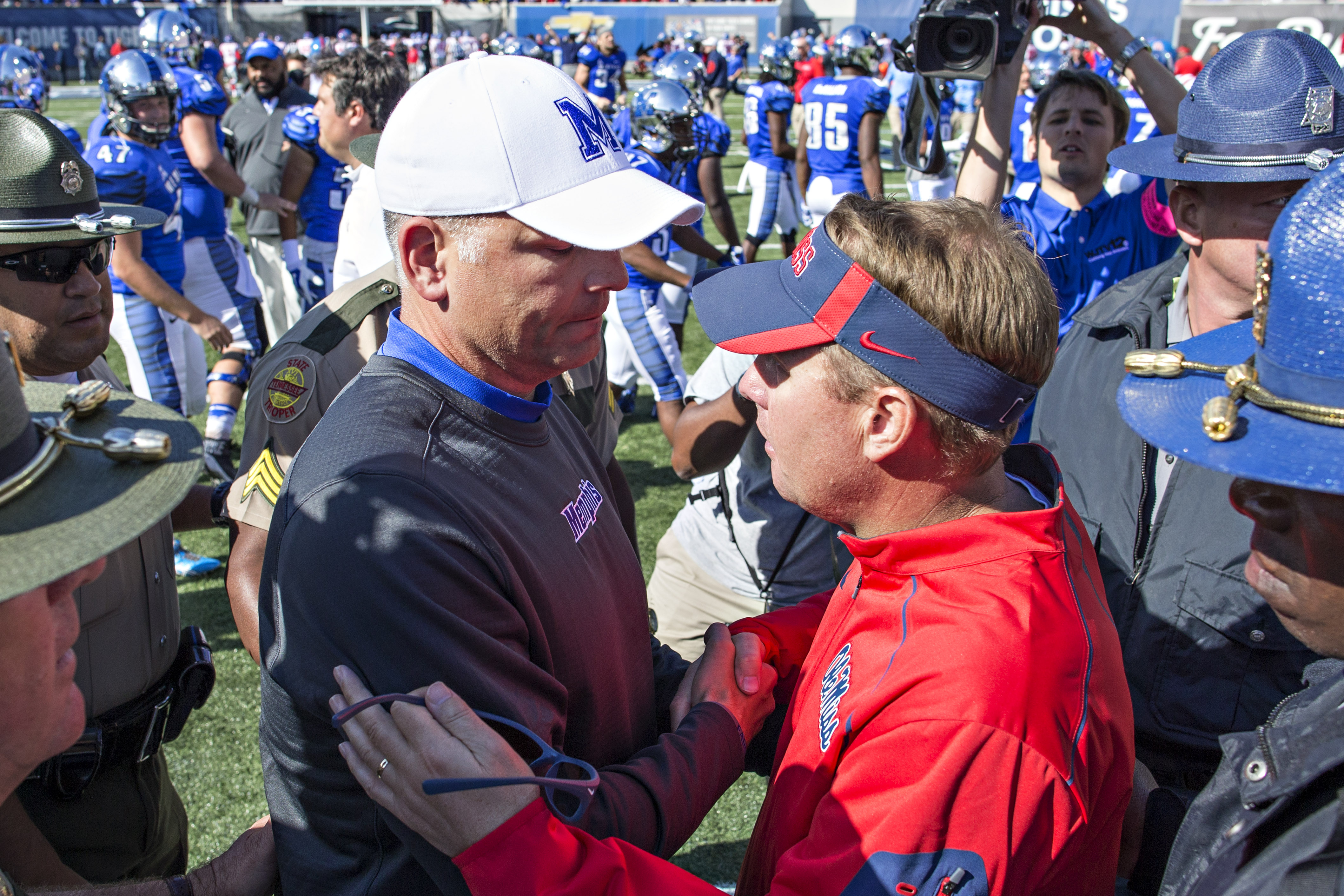 Angry Ole Miss fans do not want to play Memphis again, and maybe also want to hire Steve Spurrier