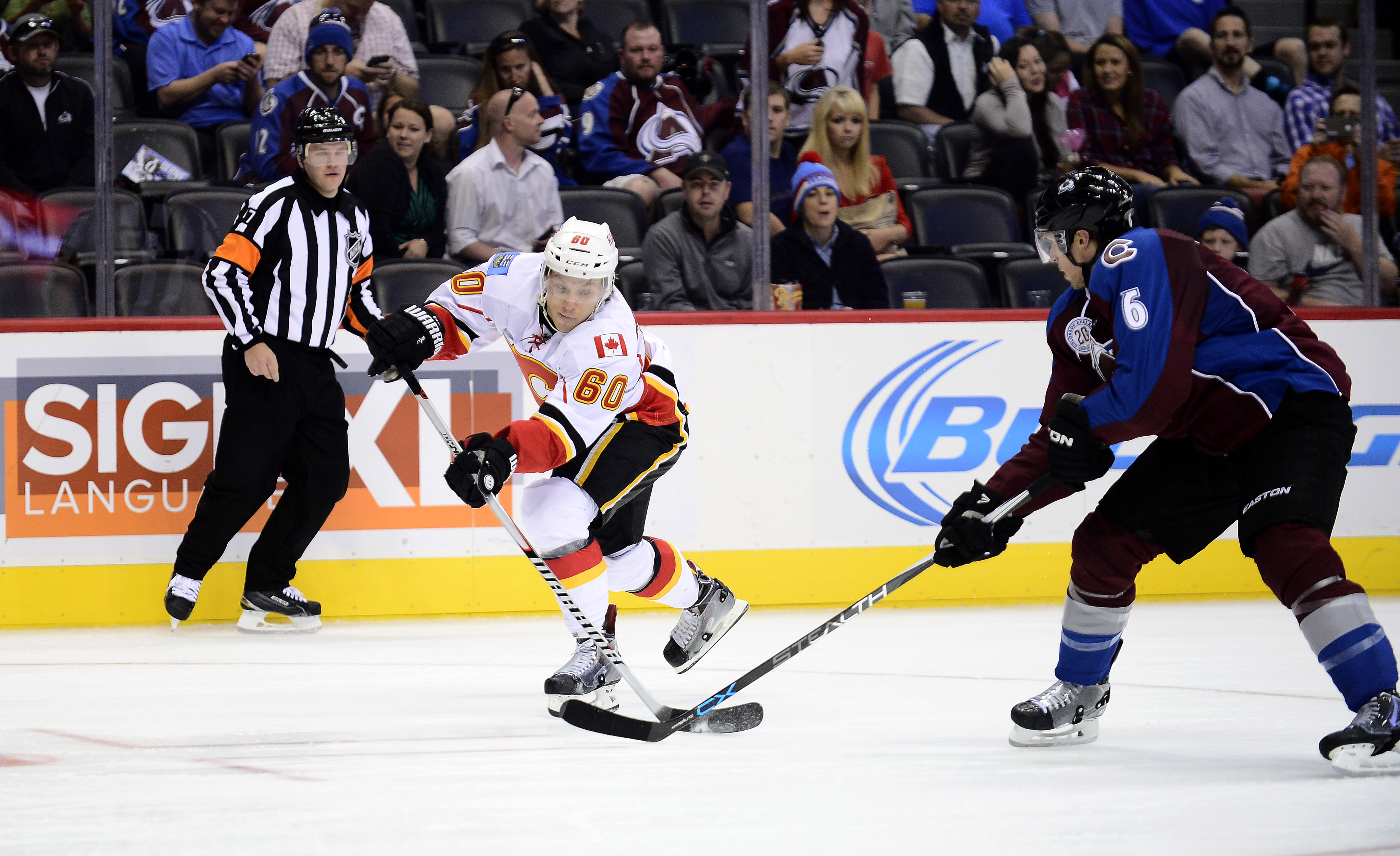 Centre Markus Granlund scored his second goal of the season in the loss.